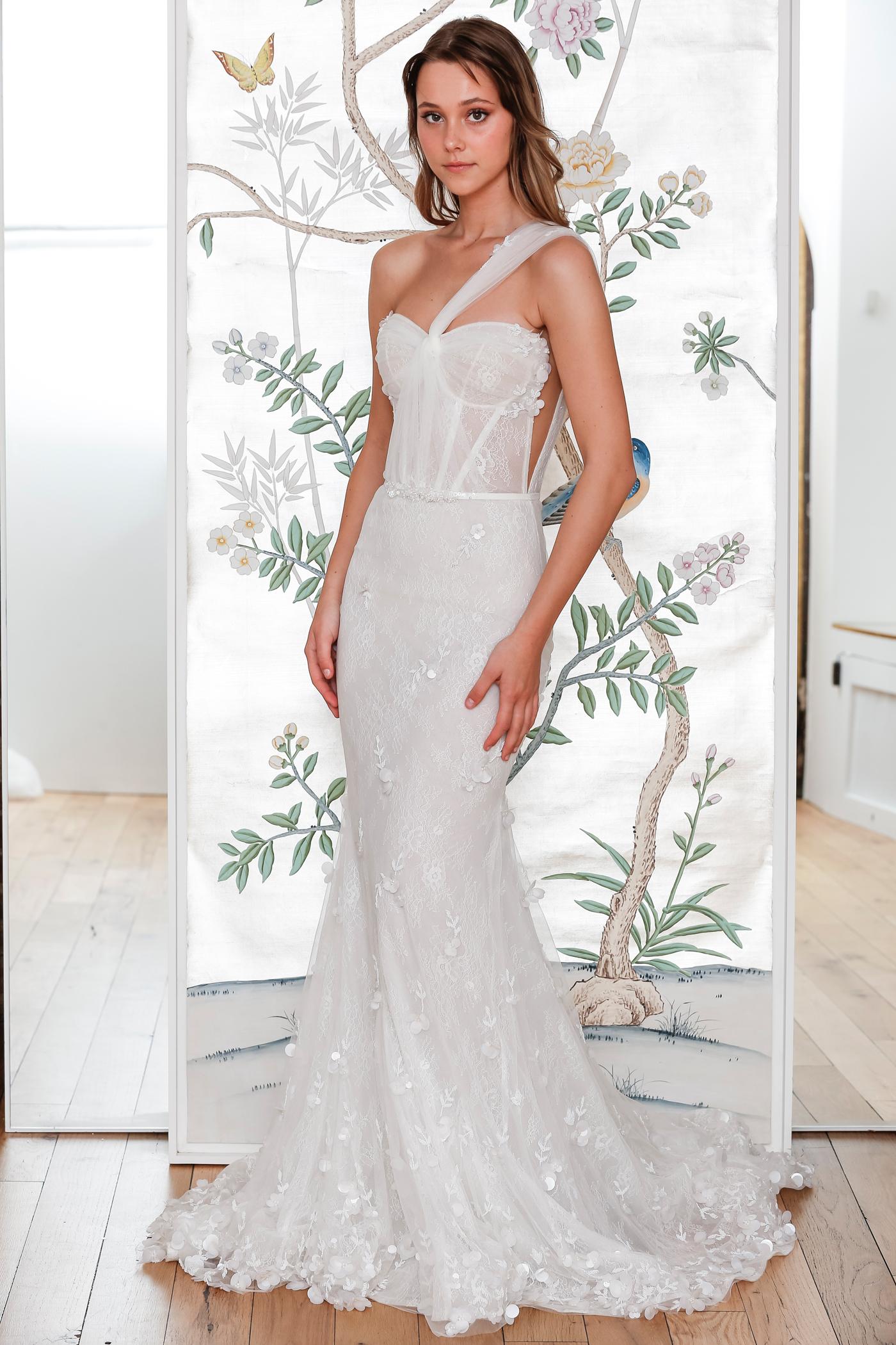 lee petra grebenau lace asymmetrical mermaid wedding dress spring 2020