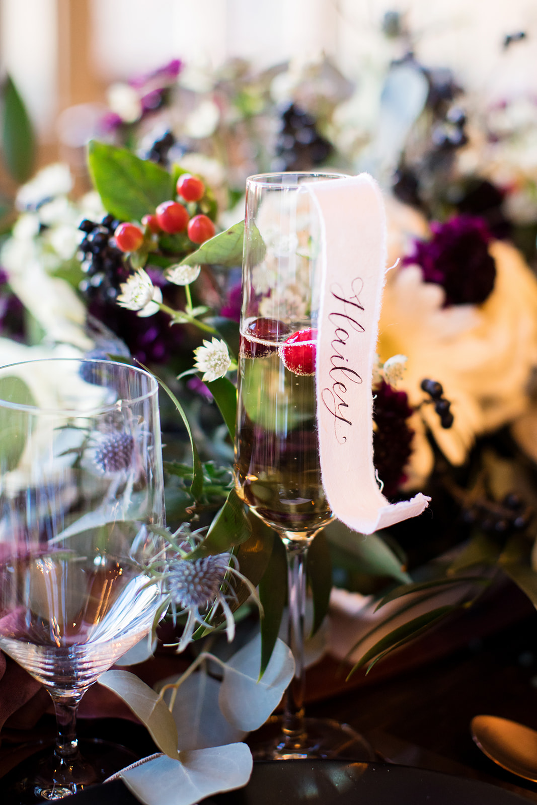 personalize scroll Champagne glasses