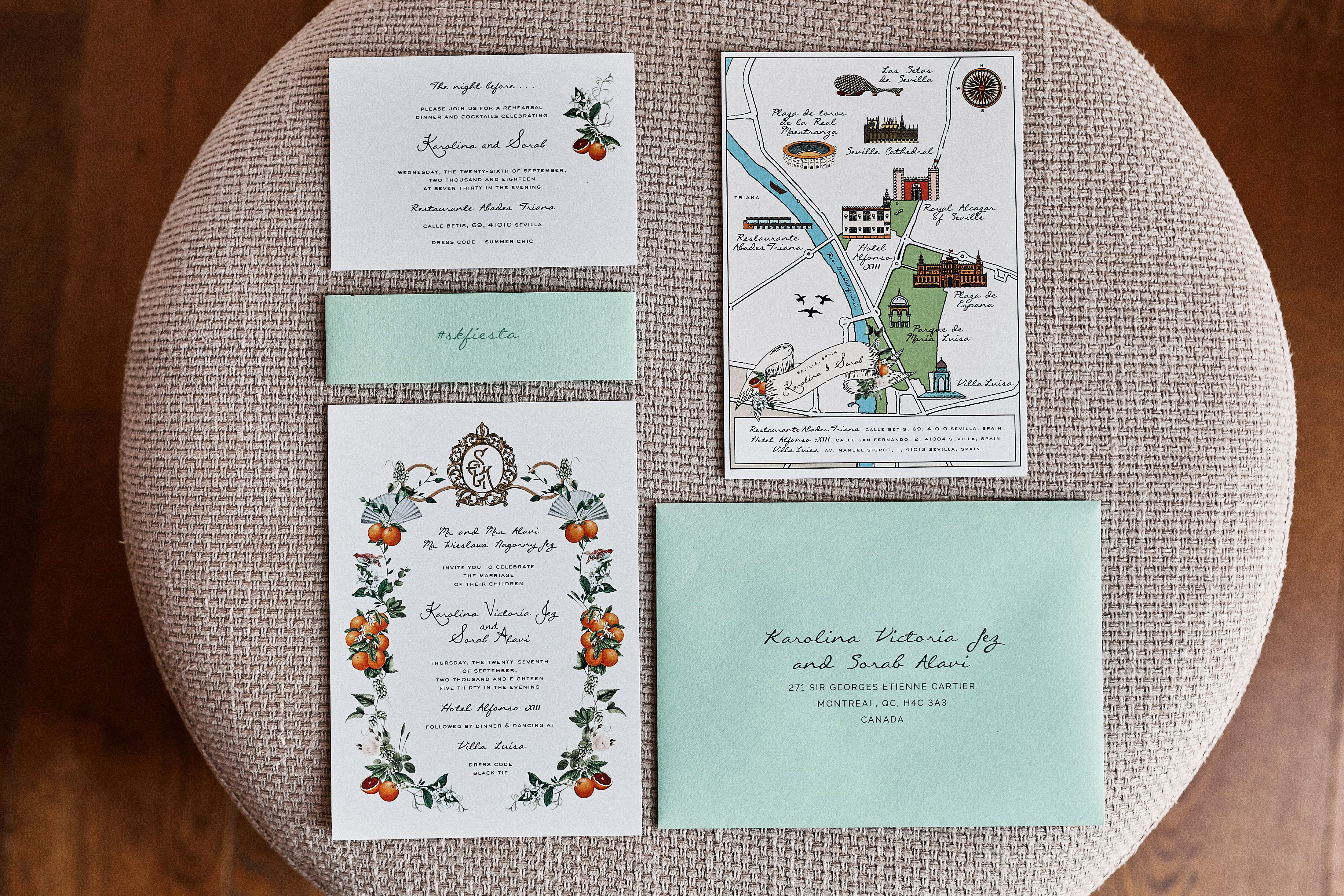 karolina sorab wedding invites stationary suite