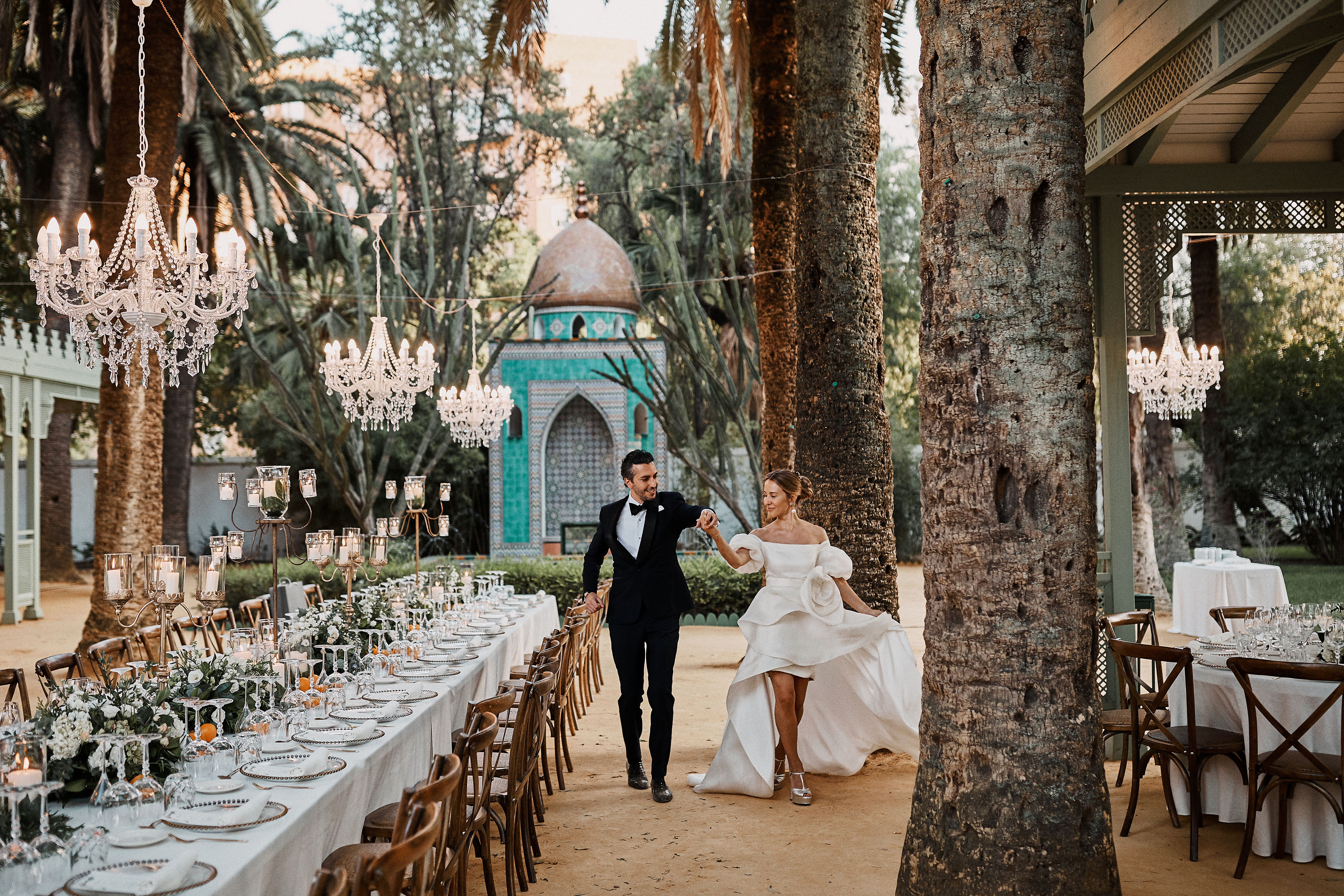 karolina sorab wedding couple outdoor reception