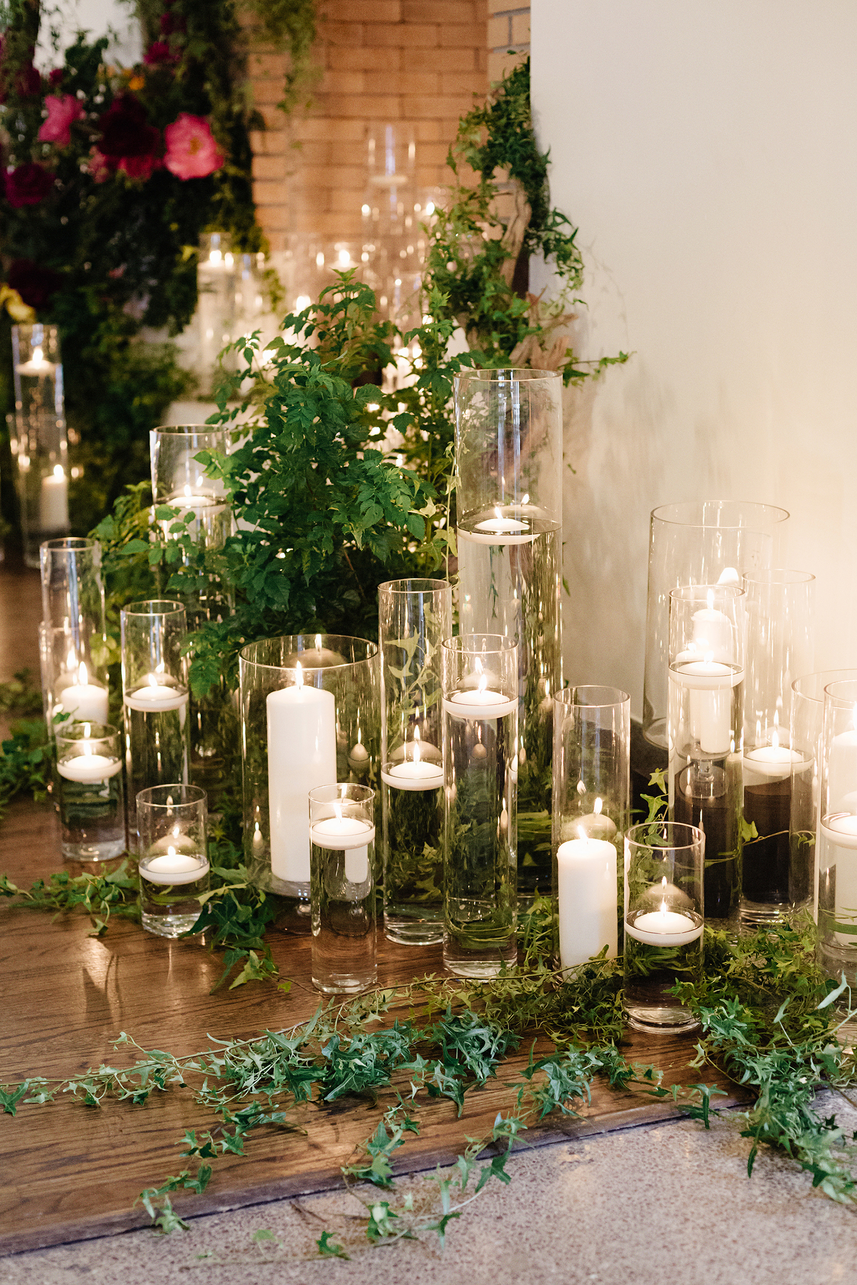 candle floor display