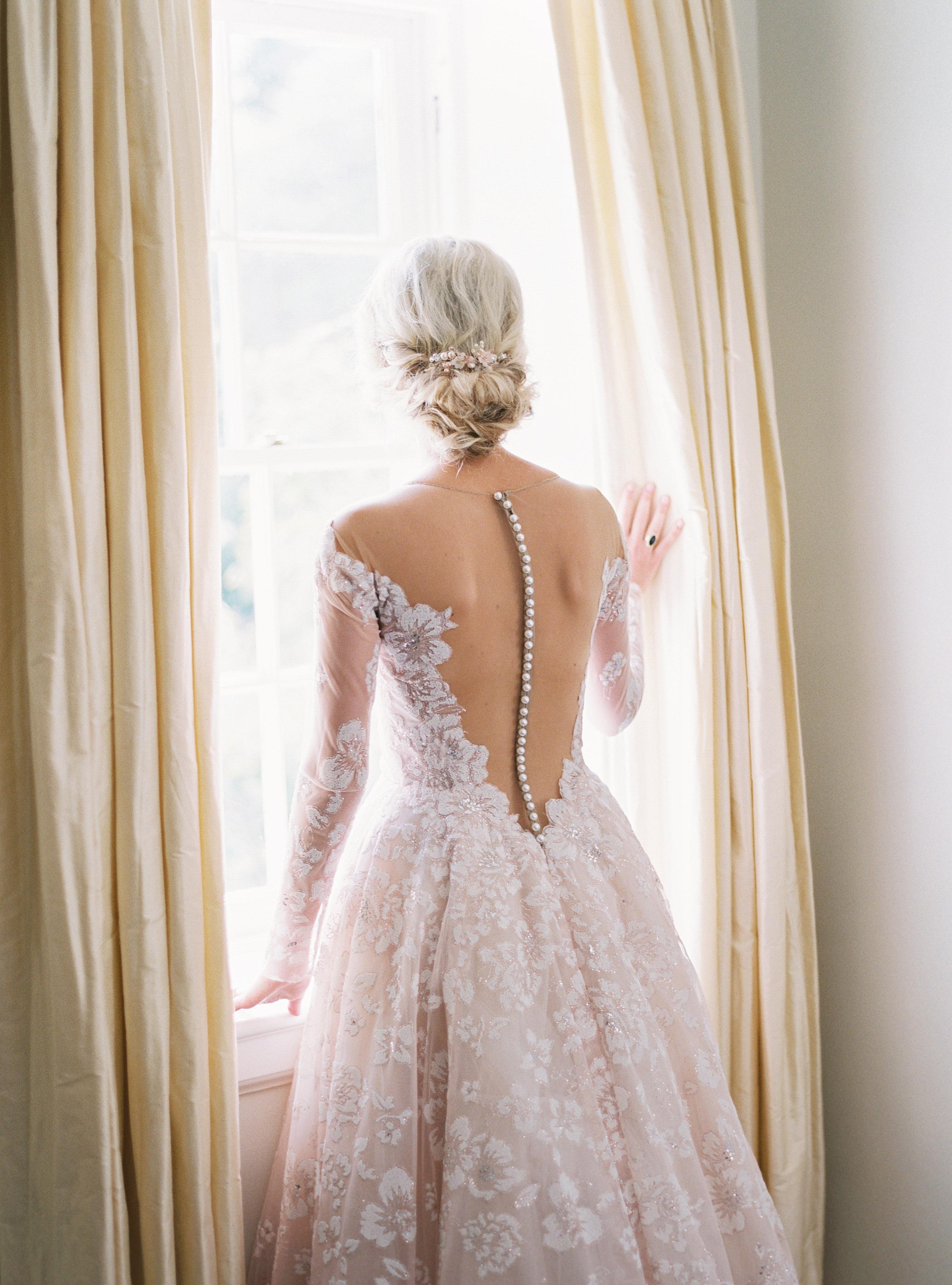 shelby preston wedding back of dress
