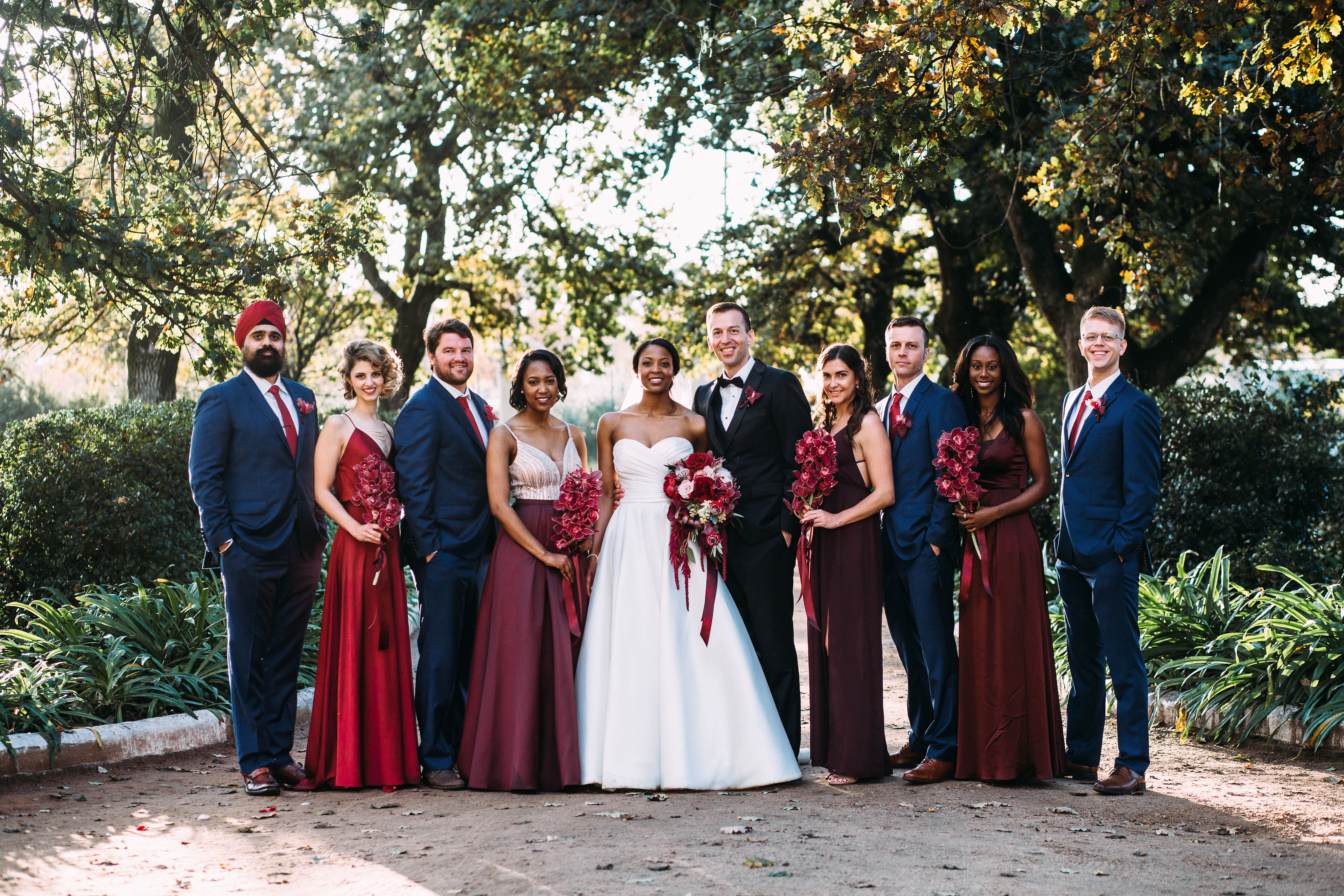 yolana douglas wedding party bride groom bridesmaids groomsmen