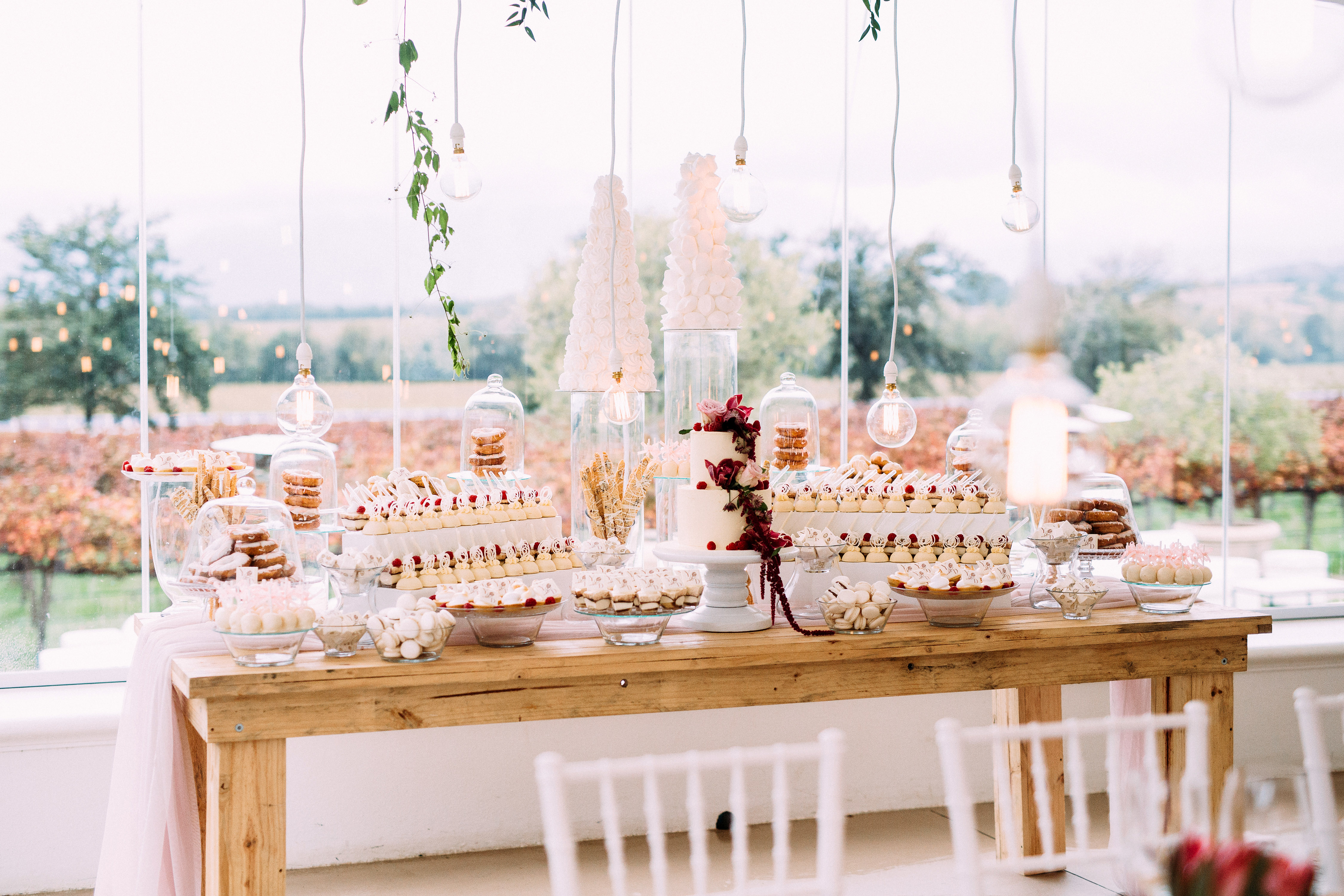 yolana douglas wedding dessert table