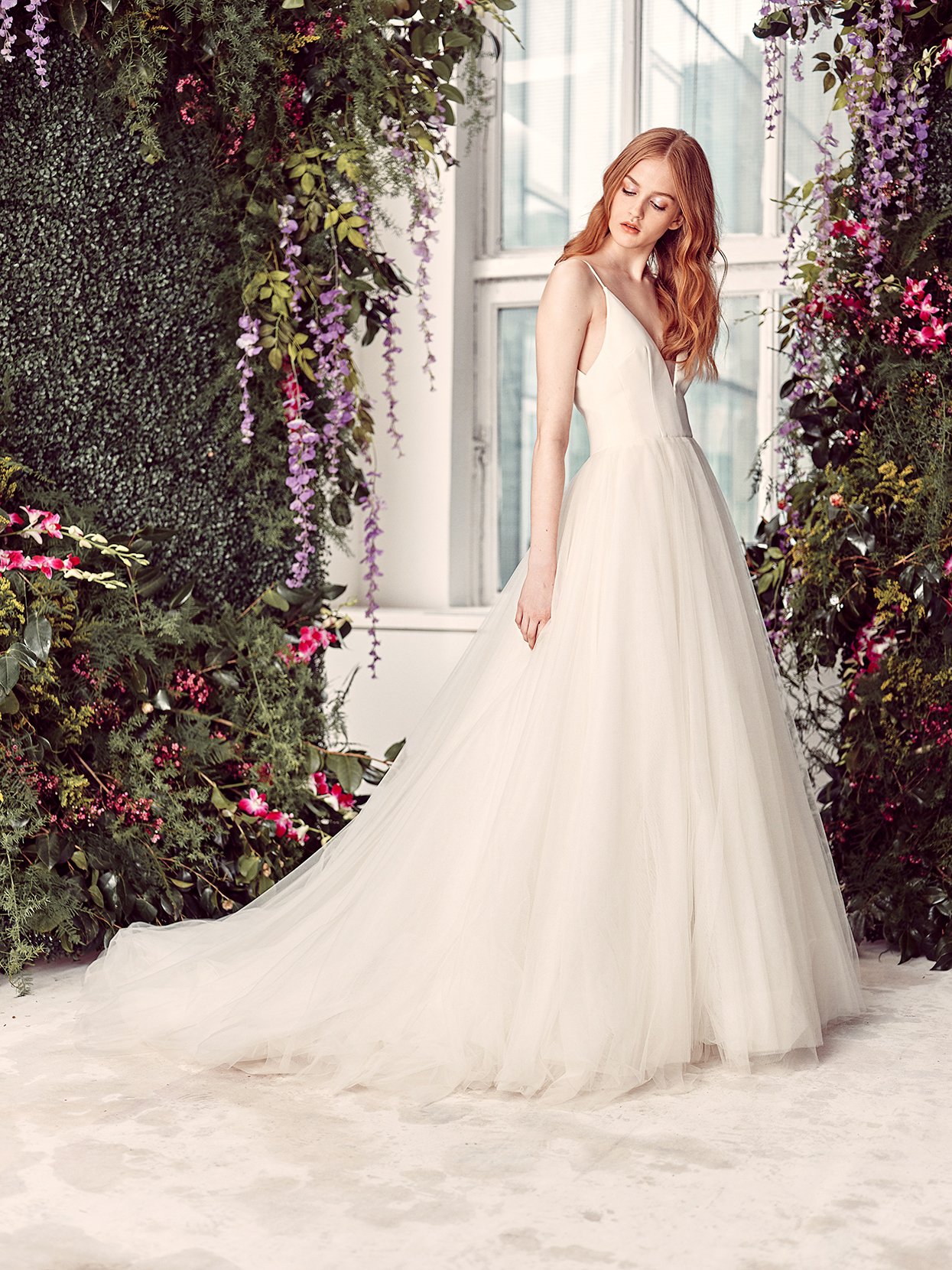 alyne by rita vinieris spaghetti-strap v-neck wedding dress spring 2020