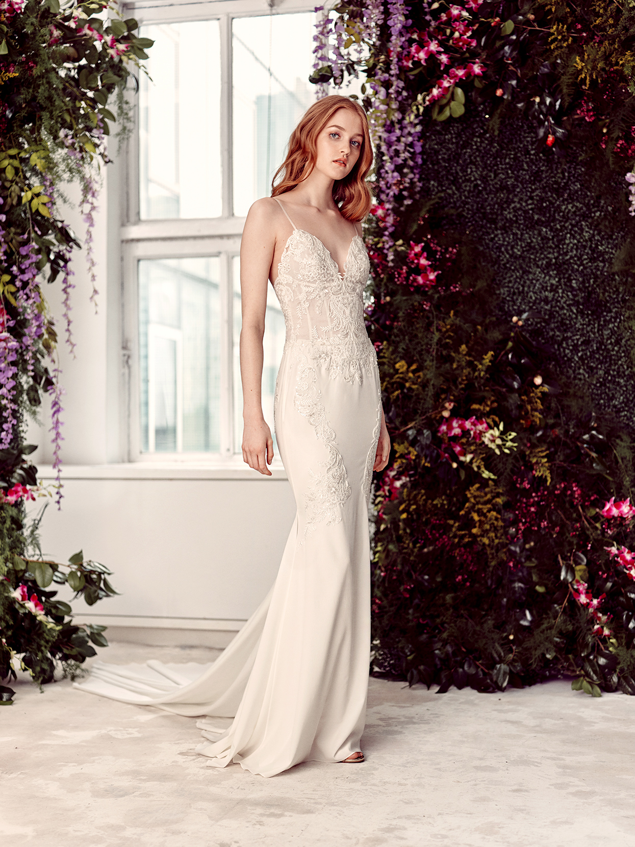 alyne by rita vinieris spaghetti-strap sheath wedding dress spring 2020
