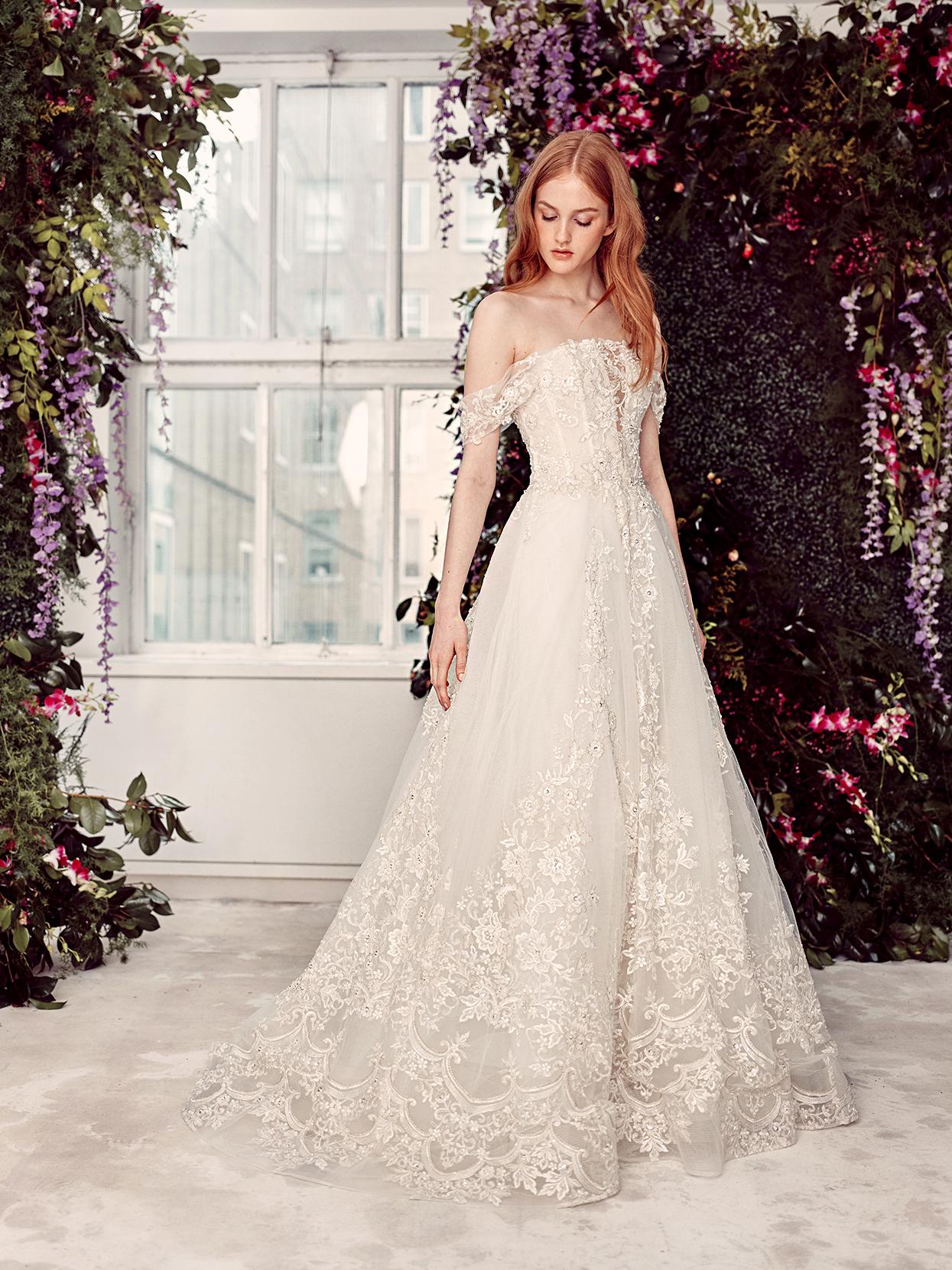 alyne by rita vinieris off-the-shoulder exposed boning wedding dress spring 2020