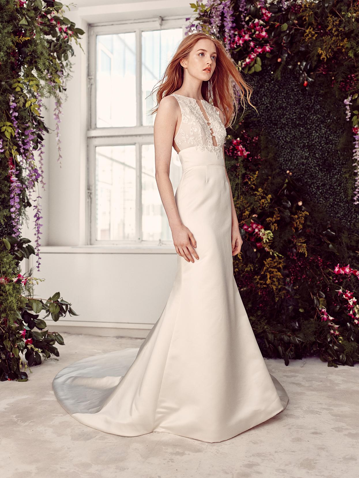 alyne by rita vinieris high-neck cut-out bust wedding dress spring 2020