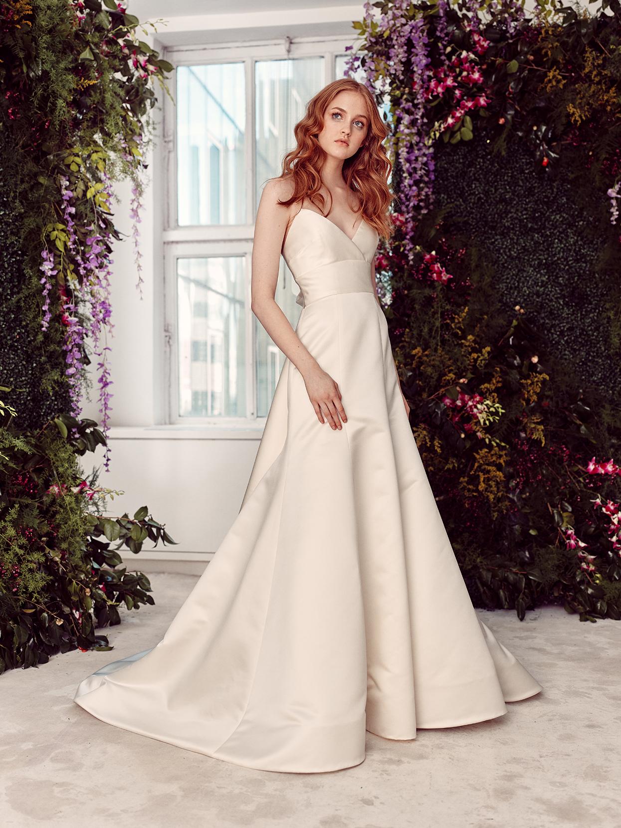 alyne by rita vinieris strapless a-line with sash wedding dress spring 2020