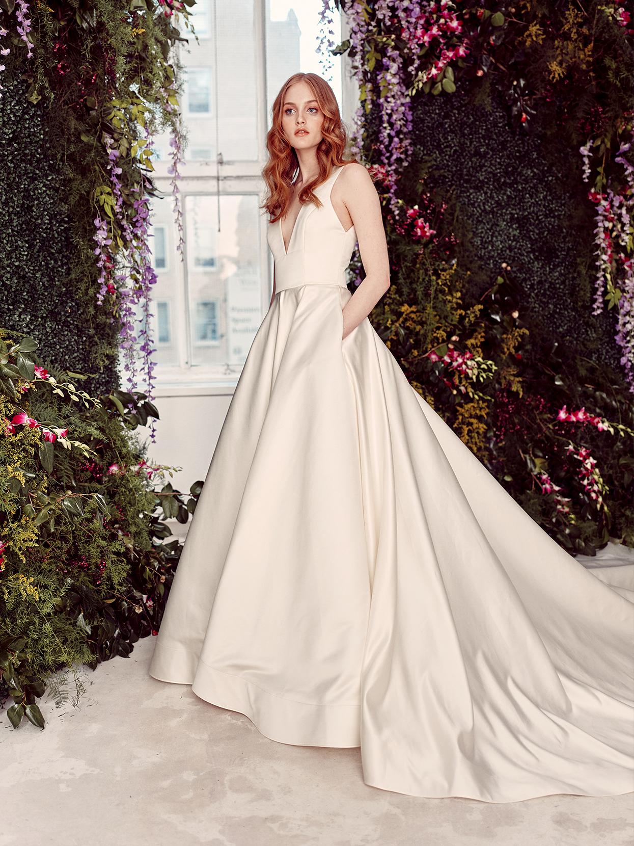 alyne by rita vinieris v-neck a-line pockets wedding dress spring 2020
