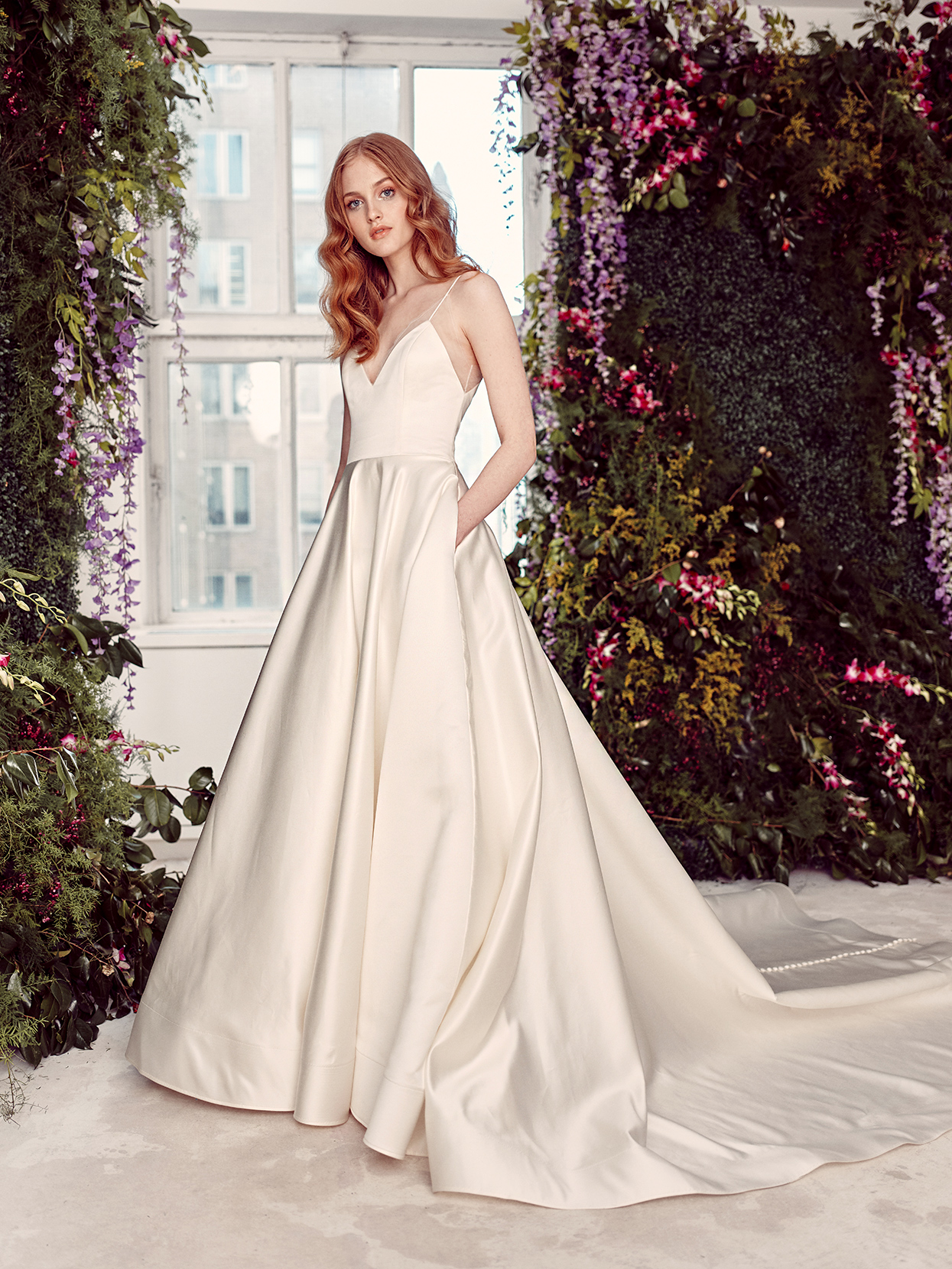 alyne by rita vinieris minimalist spaghetti-strap wedding dress spring 2020