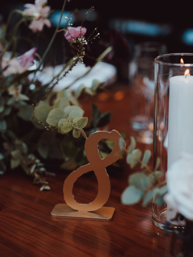 solid gold table numbers