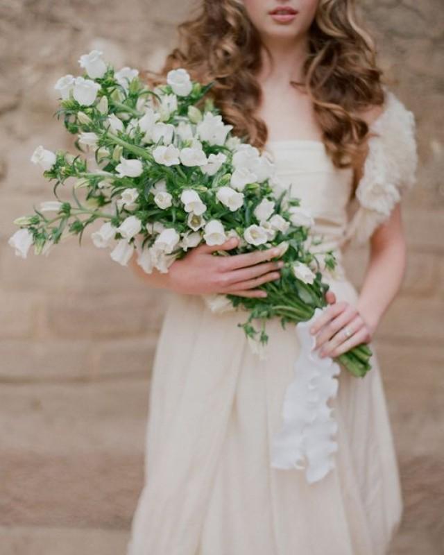 long stemmed White foxglove floral wedding bouquet