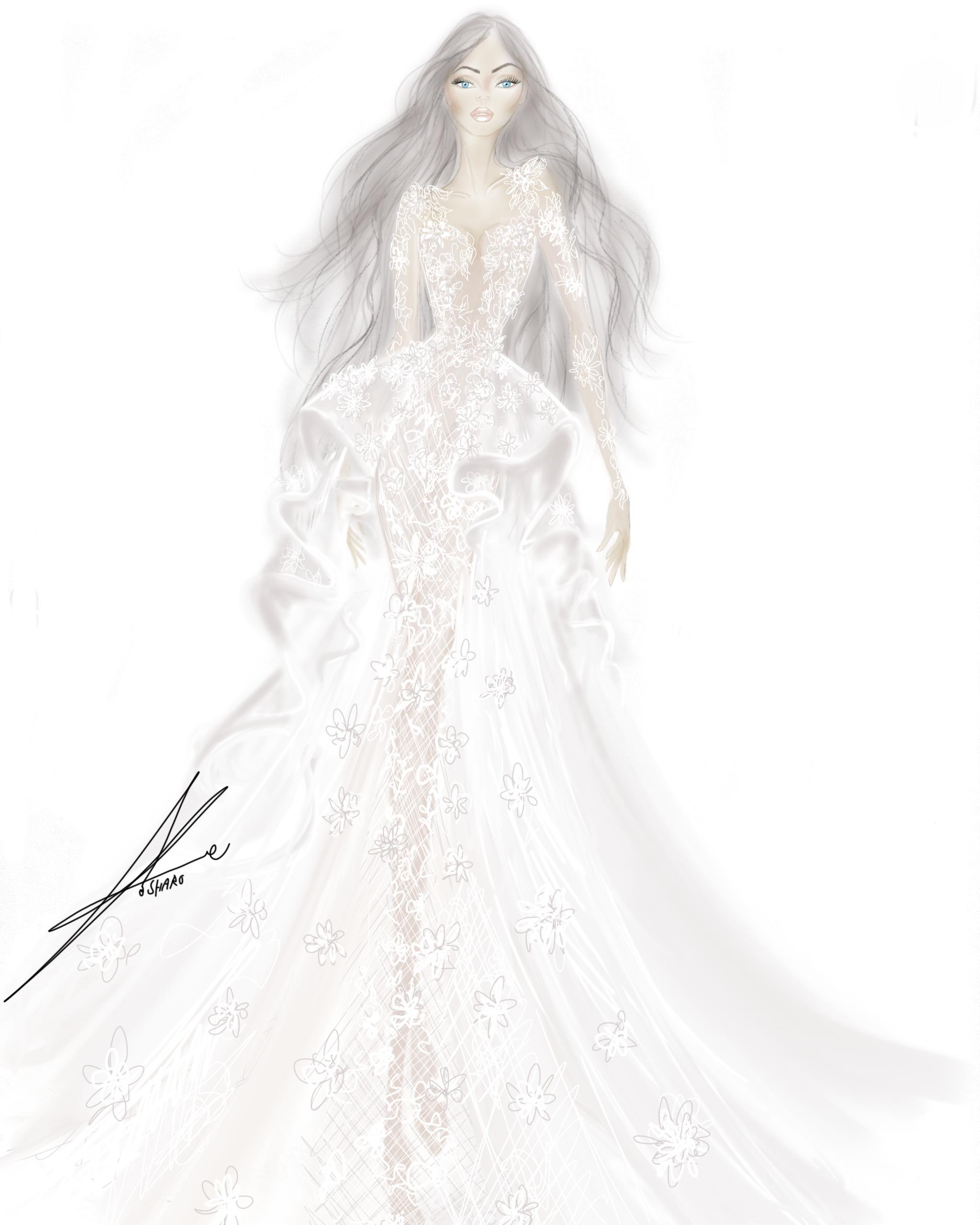 spring 2020 bridal fashion week sketches galia lahav
