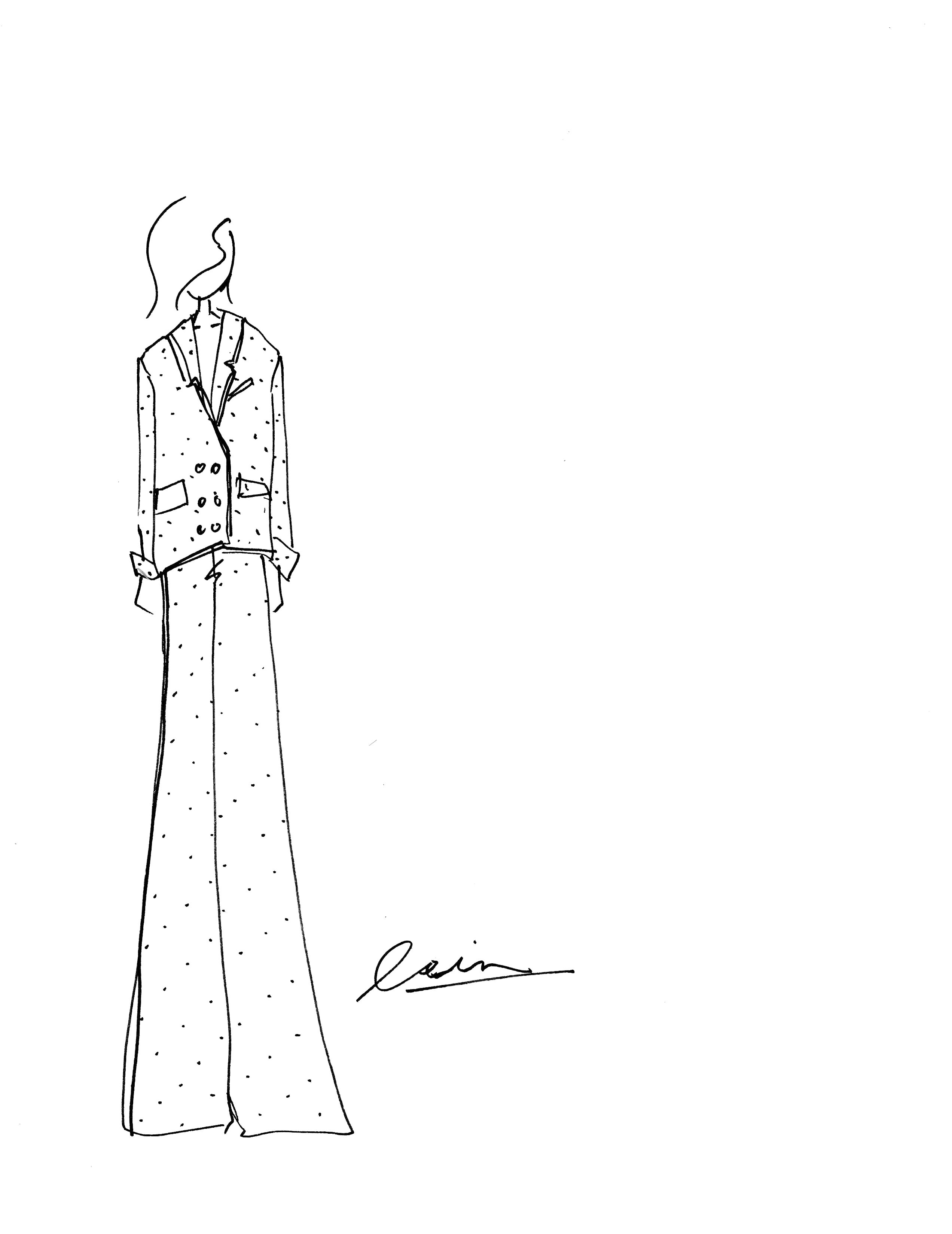pants v-neck suit Lein Spring 2020
