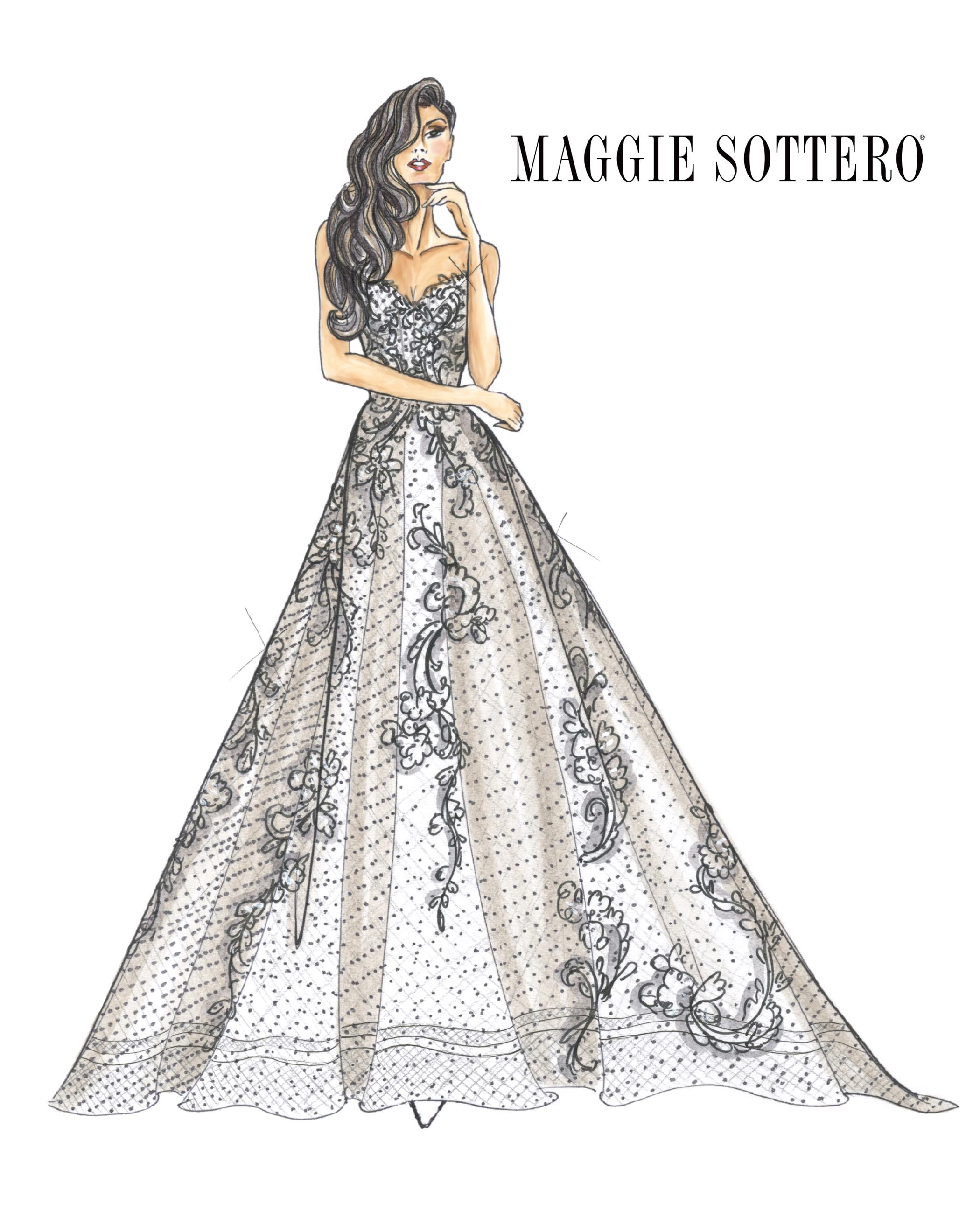 strapless sweetheart neckline a-line Maggie Sottero Spring 2020