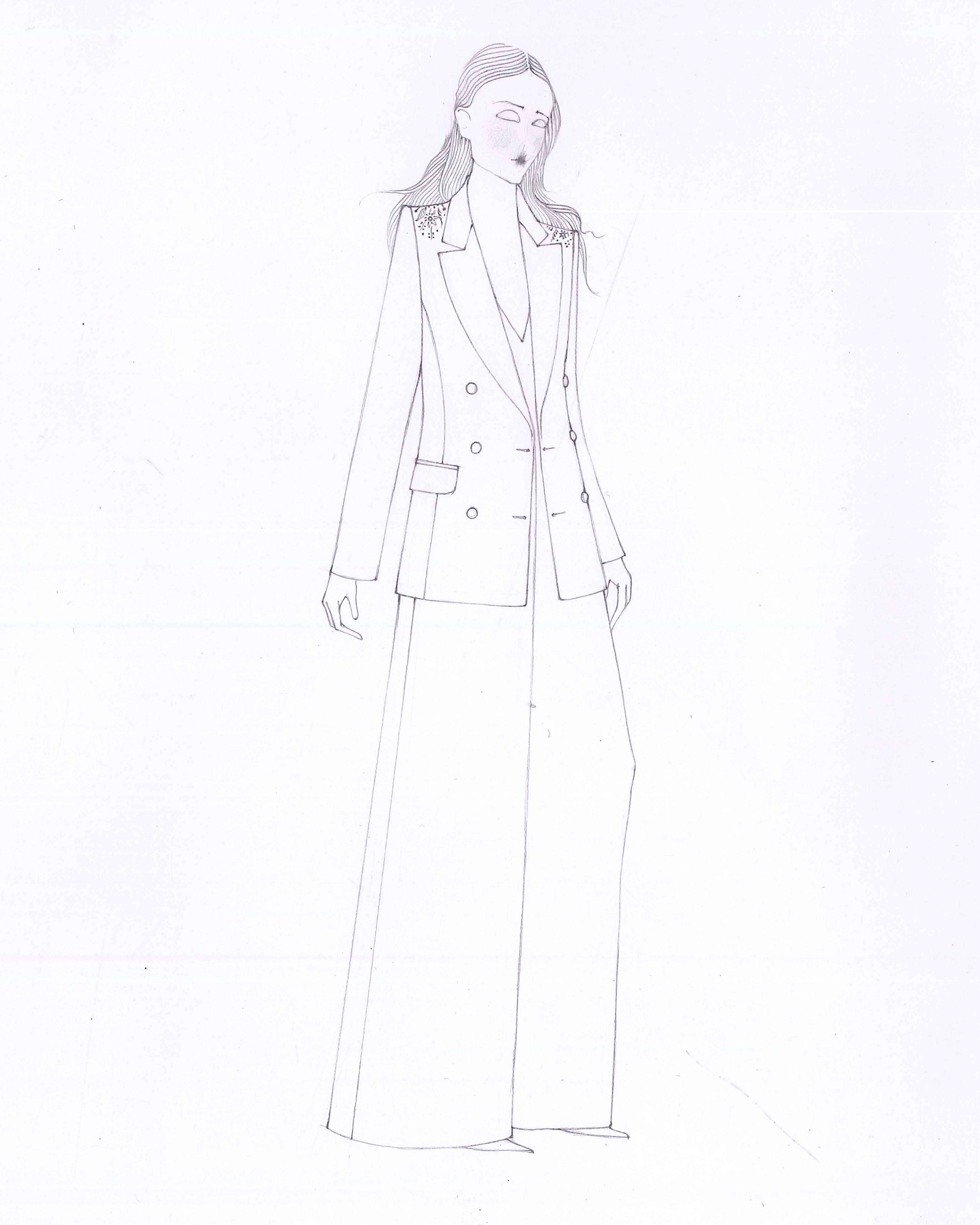 savannah miller spring 2020 wedding dress sketch