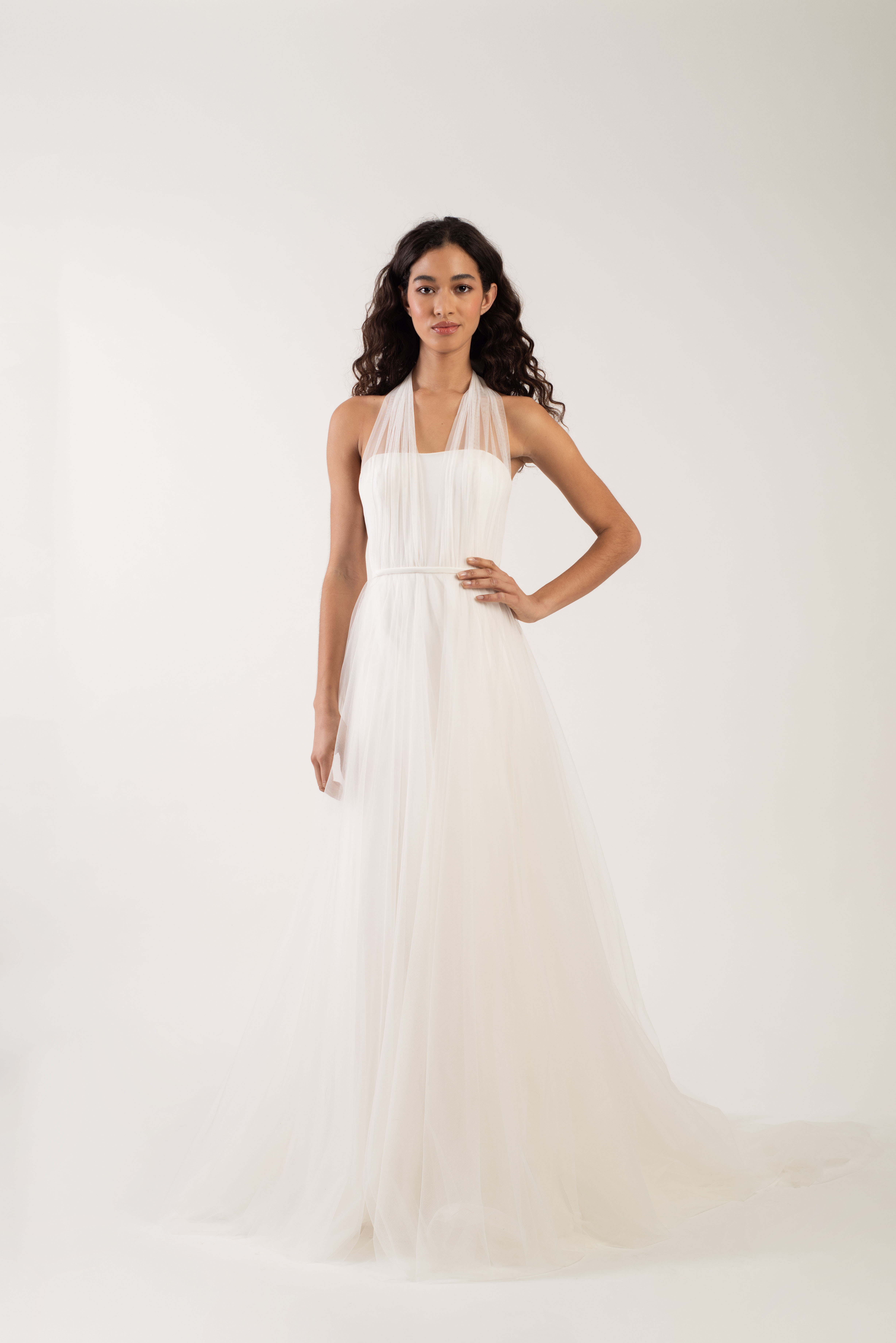 tulle halter strap tulle skirt a-line wedding dress Jenny by Jenny Yoo Spring 2020