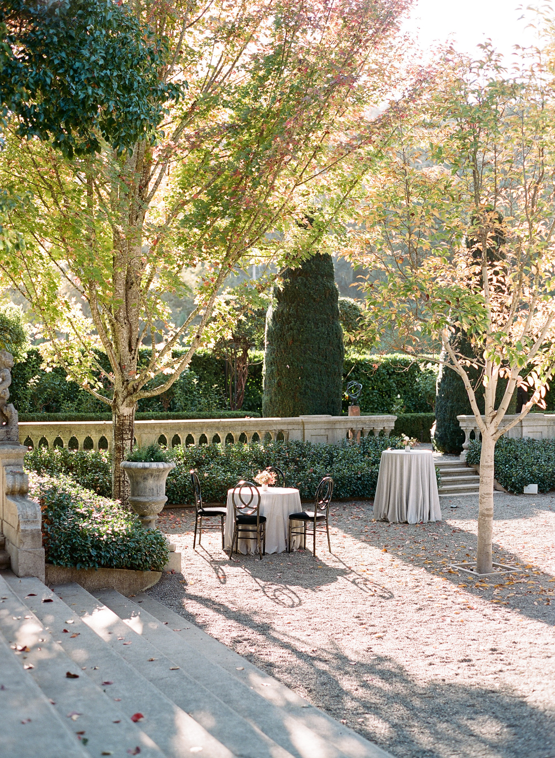 Beaulieu Garden in Rutherford, California wedding reception venue