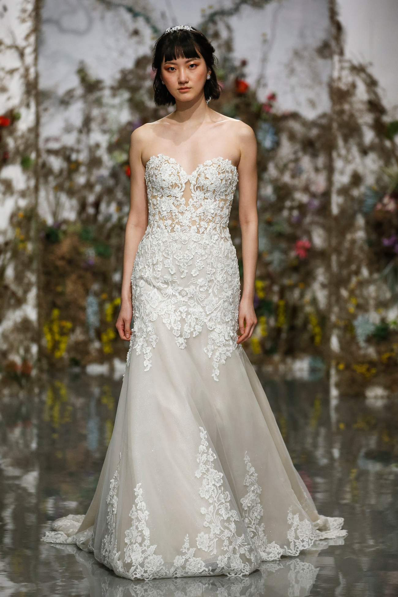 strapless sweetheart lace Morilee by Madeline Gardner Spring 2020