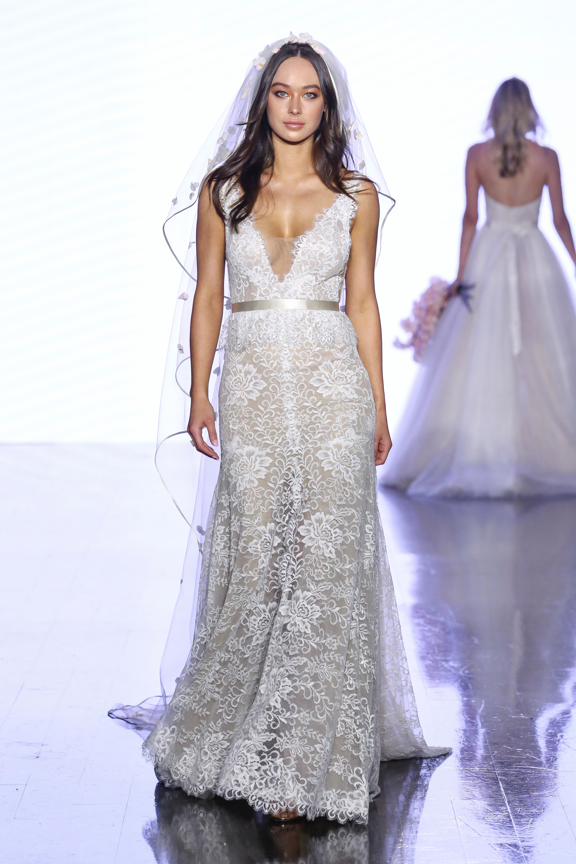 watters v-neck lace wedding dress spring 2020