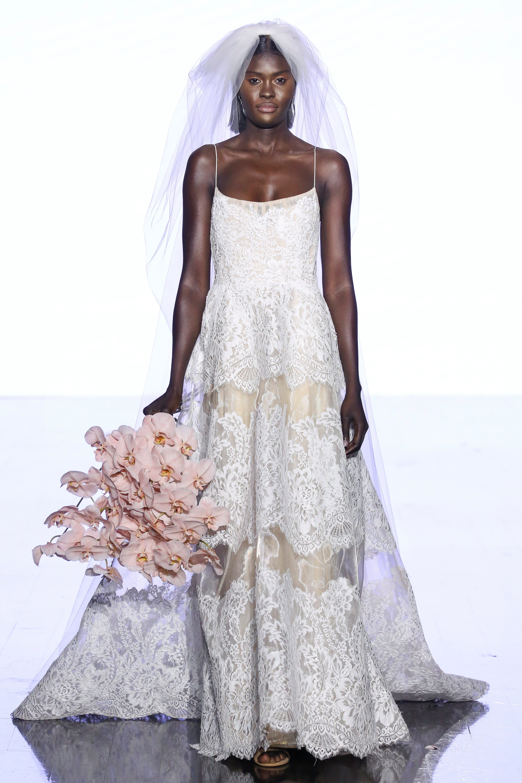 watters spaghetti strap lace wedding dress spring 2020