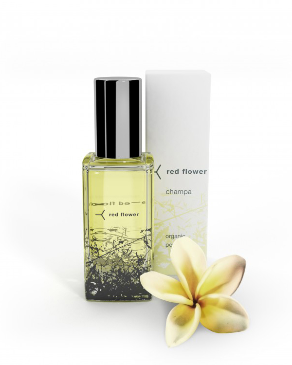 natural fragrance red flower champa organic perfume
