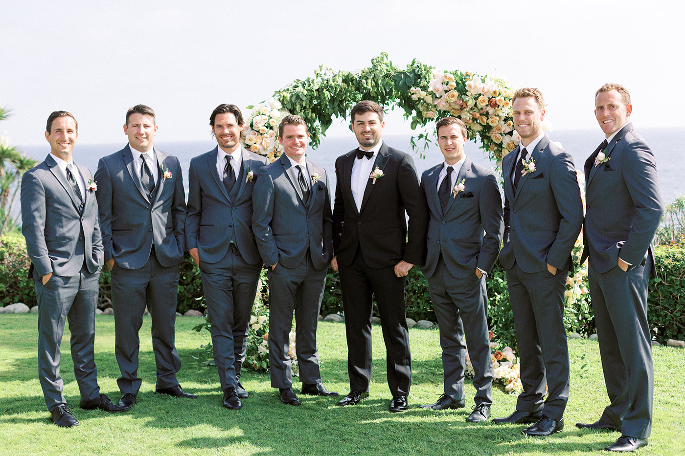 mykaela and brendon wedding groom with groomsmen