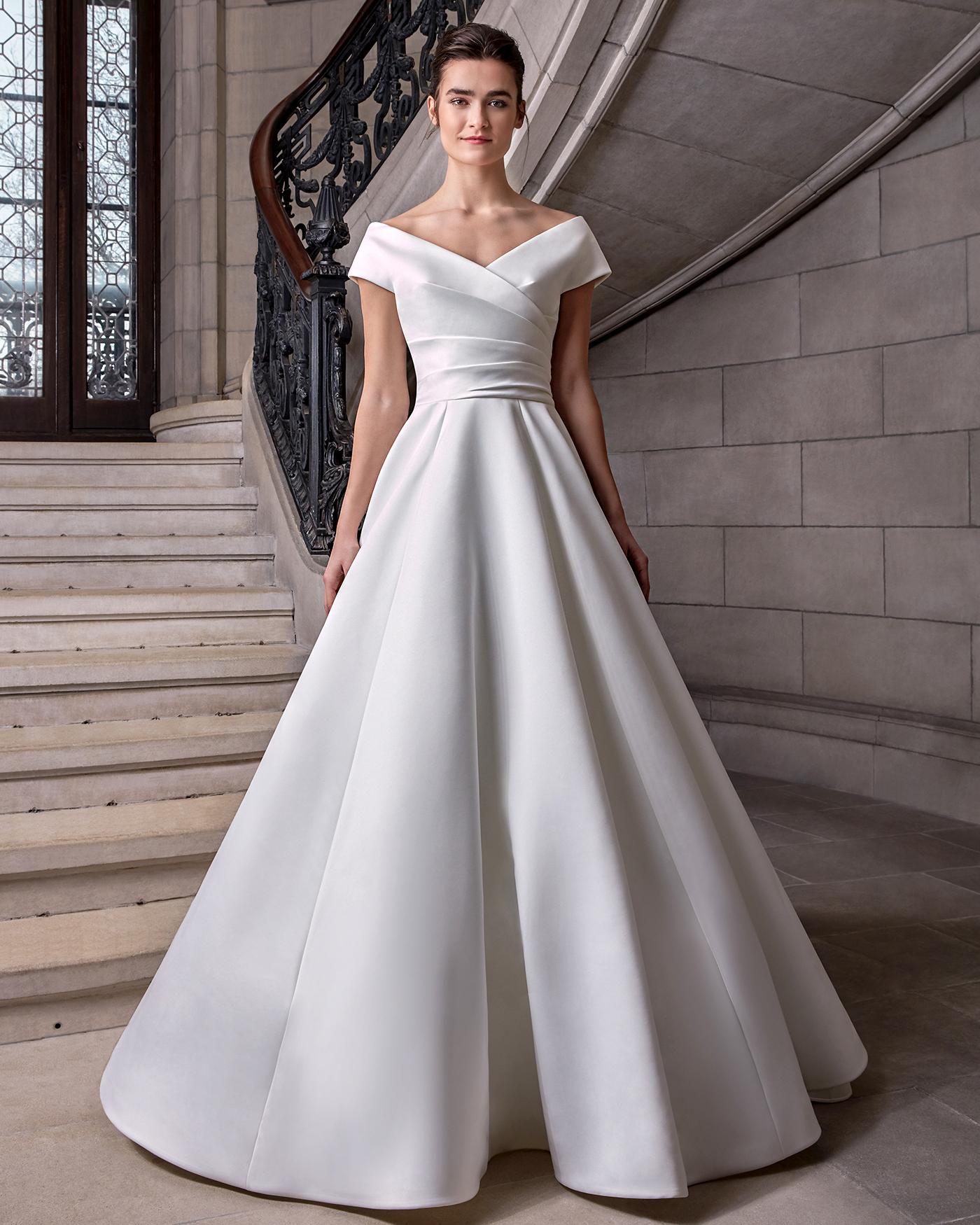 sareh nouri off the shoulder ball gown wedding dress spring 2020