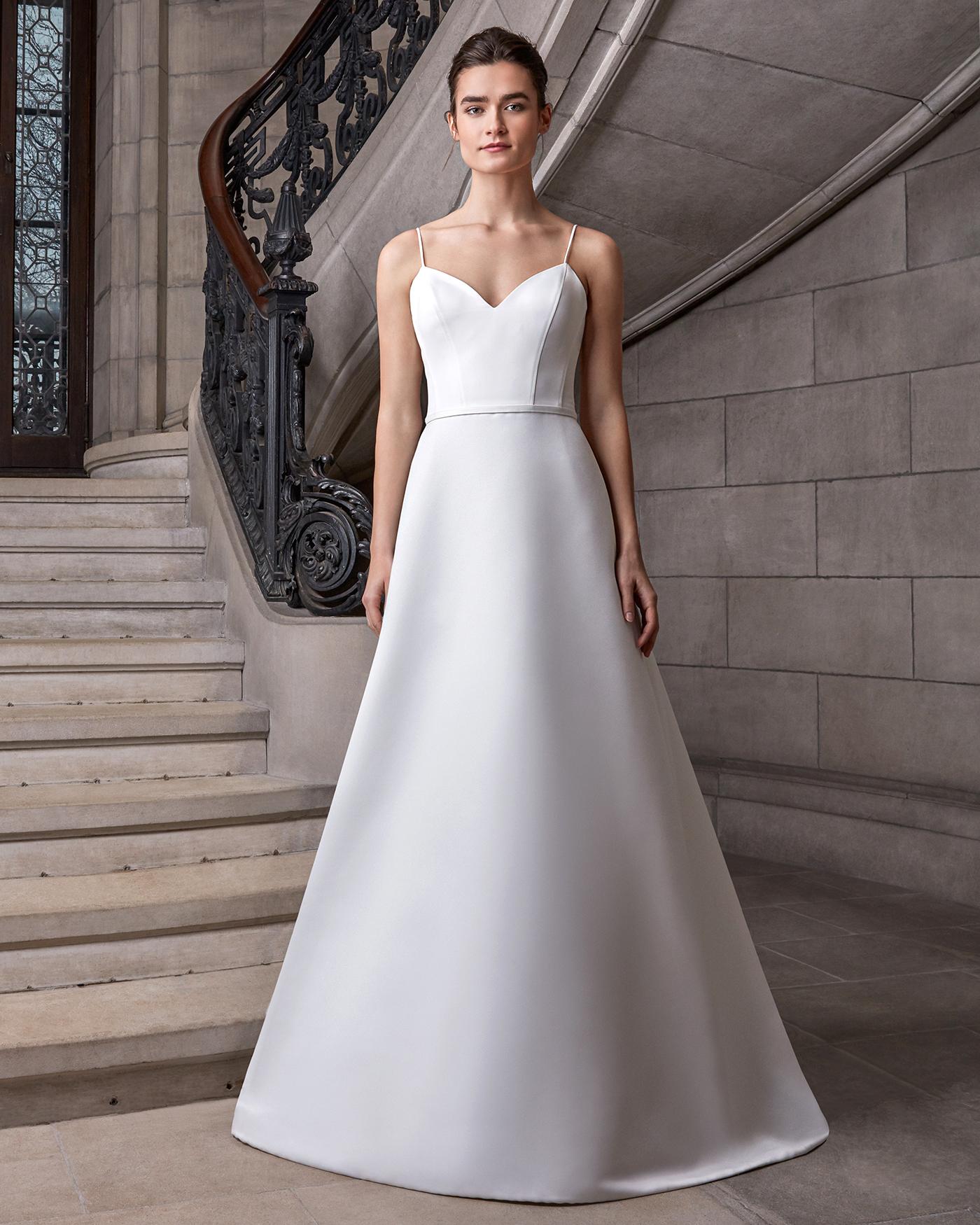 sareh nouri spaghetti strap sheath wedding dress spring 2020