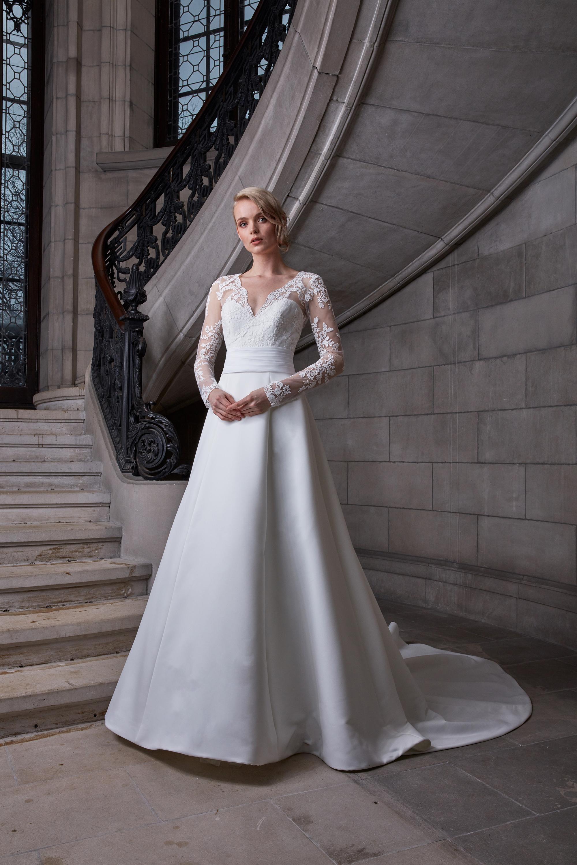 sareh nouri a-line long sleeved wedding dress spring 2020