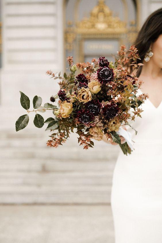 rustic wedding floral bouquet arrangement