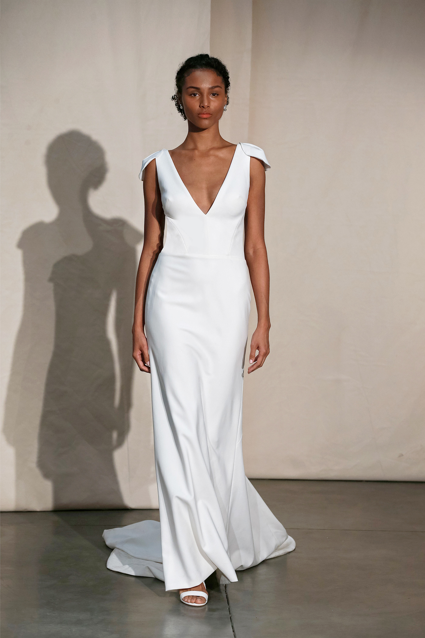 justin alexander v-neck shoulder detail wedding dress spring 2020