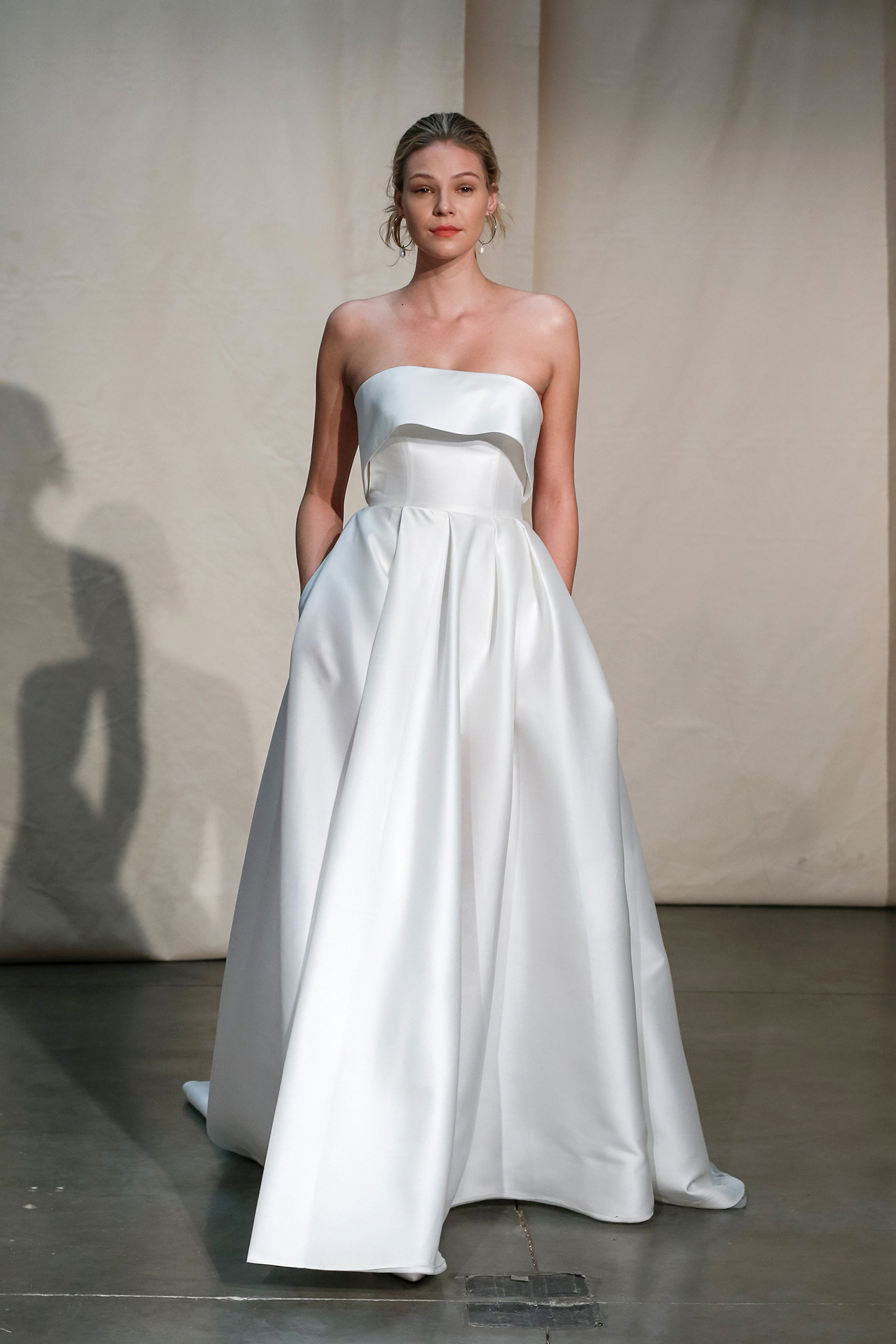 justin alexander strapless flounce wedding dress spring 2020
