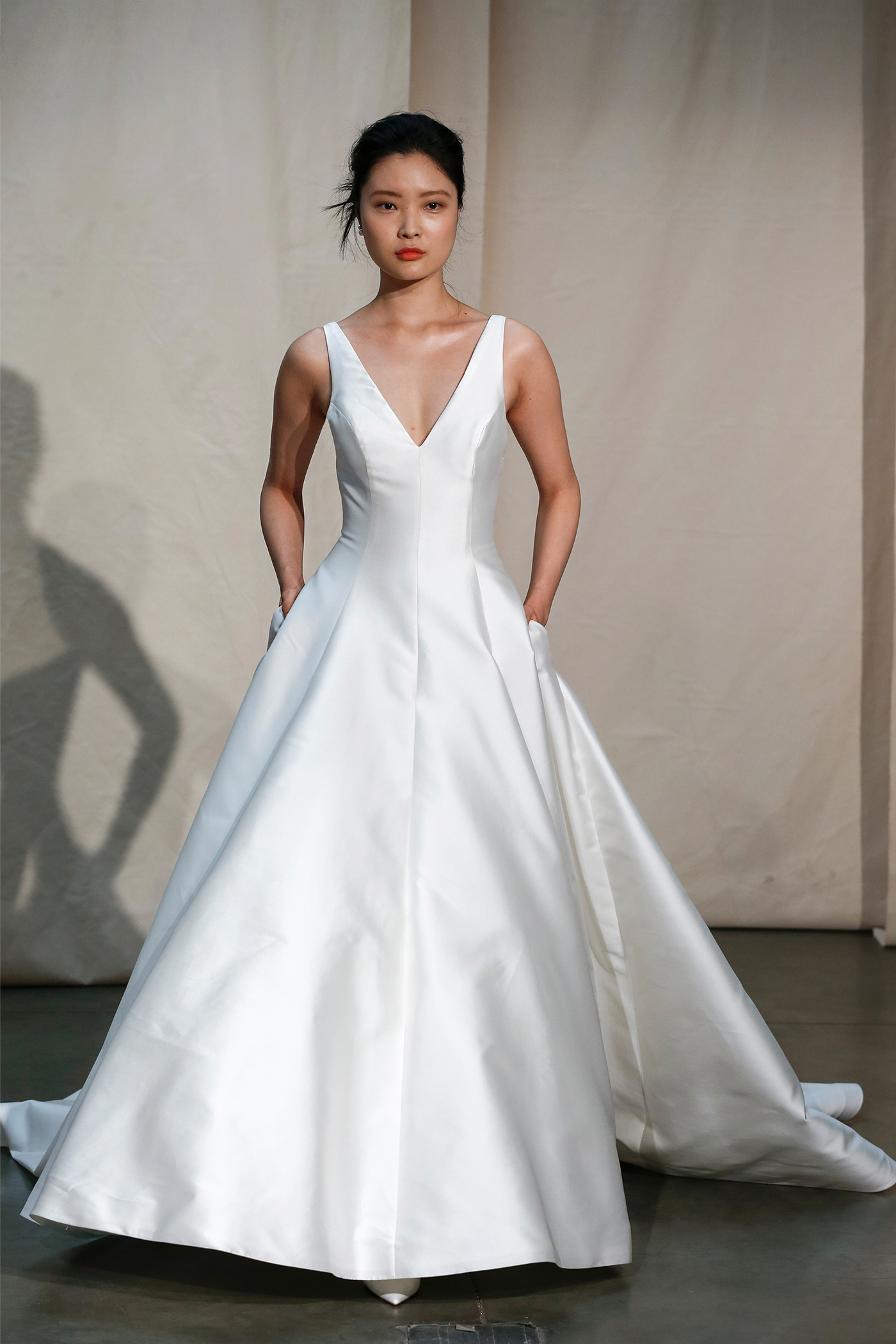 justin alexander v-neck a-line wedding dress spring 2020
