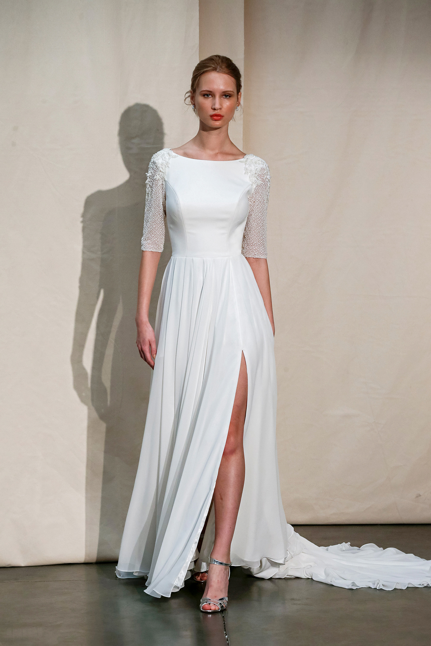 justin alexander bateau mid-sleeved wedding dress spring 2020
