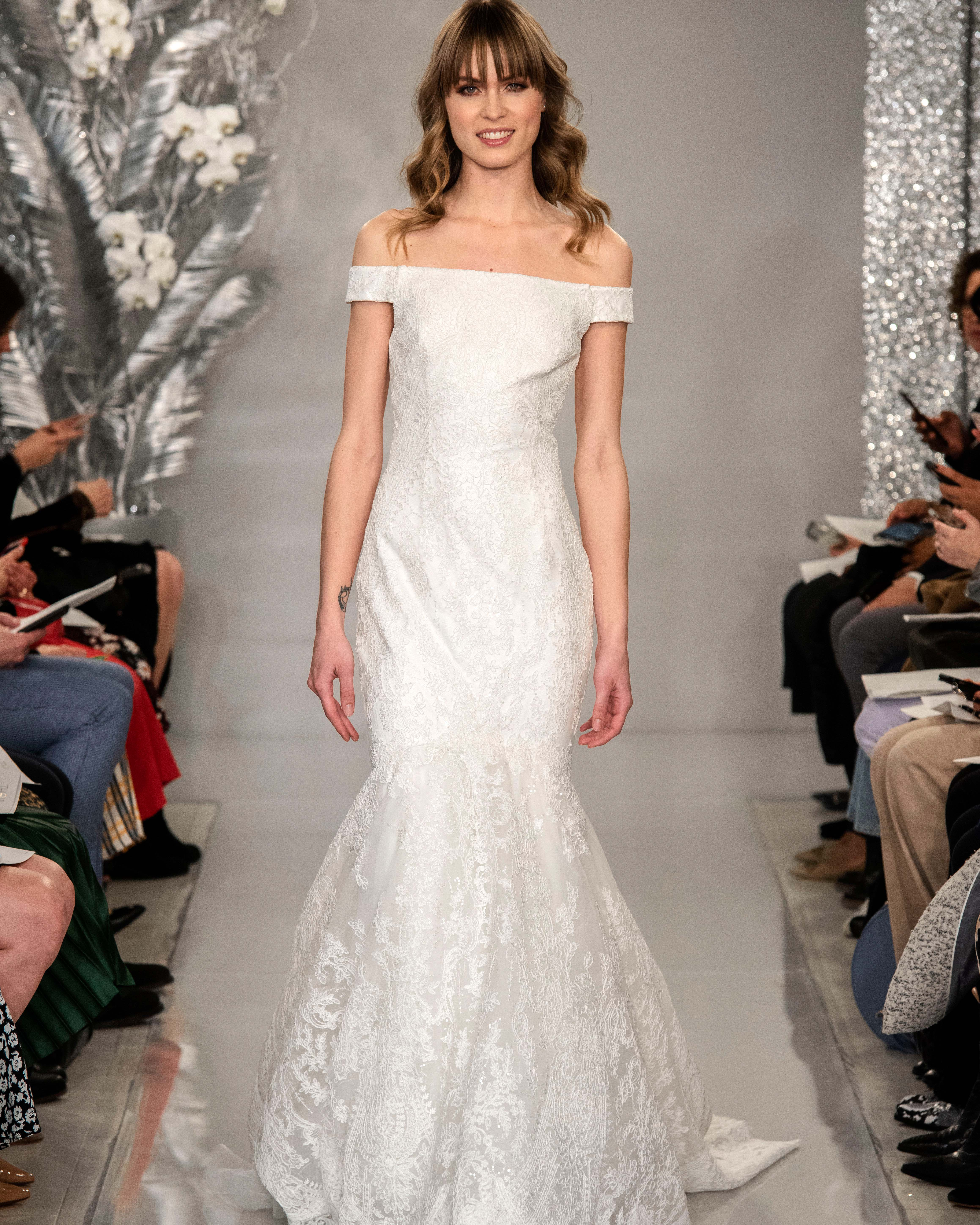 THEIA off the shoulder mermaid wedding dress Spring 2020