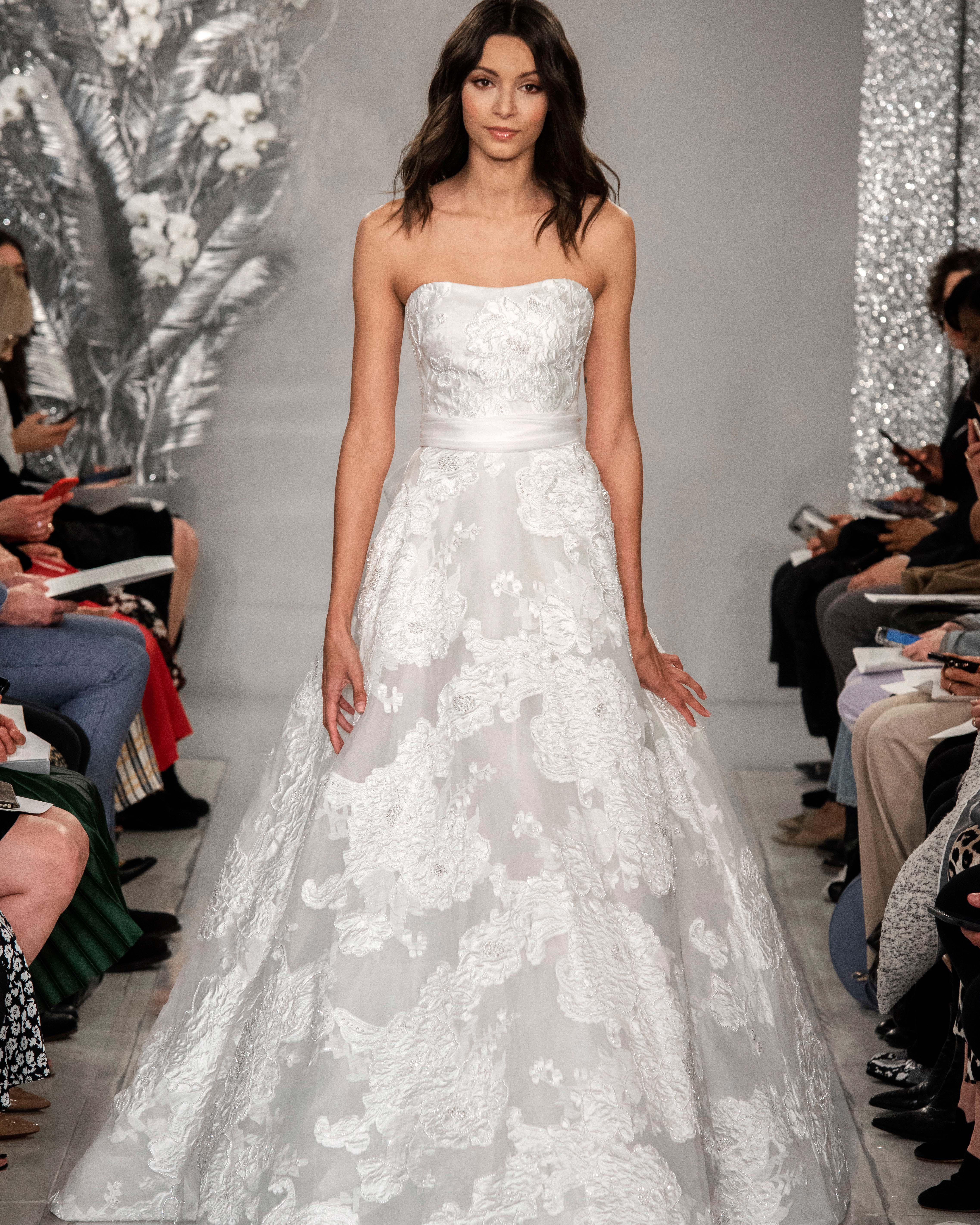 THEIA strapless ball gown wedding dress Spring 2020