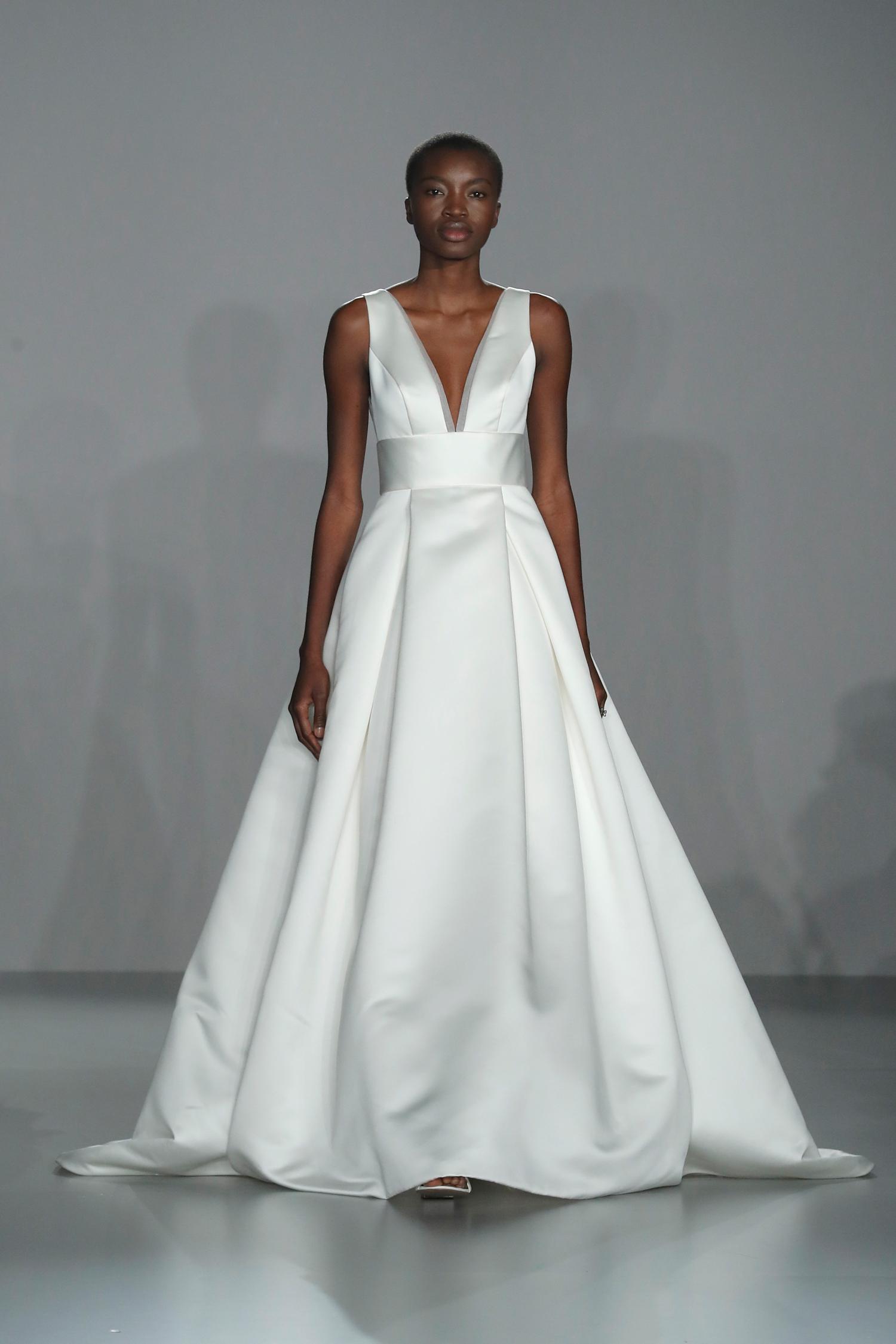 nouvelle amsale sleeveless v-neck ballgown wedding dress spring 2020