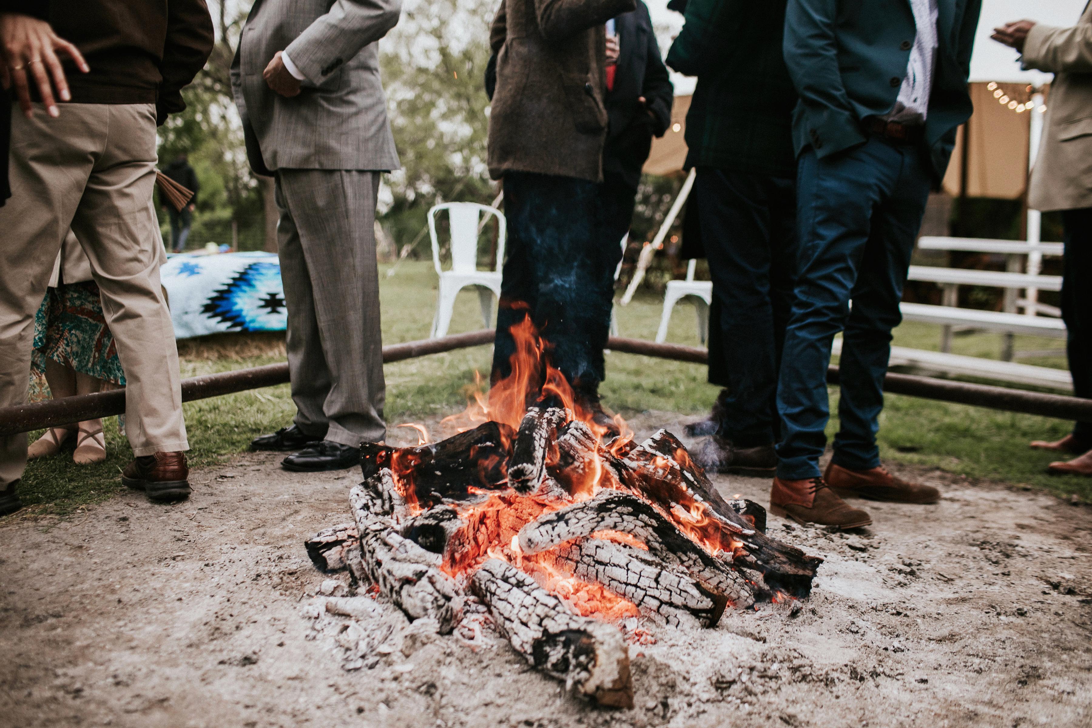 shannon jason wedding fire pit