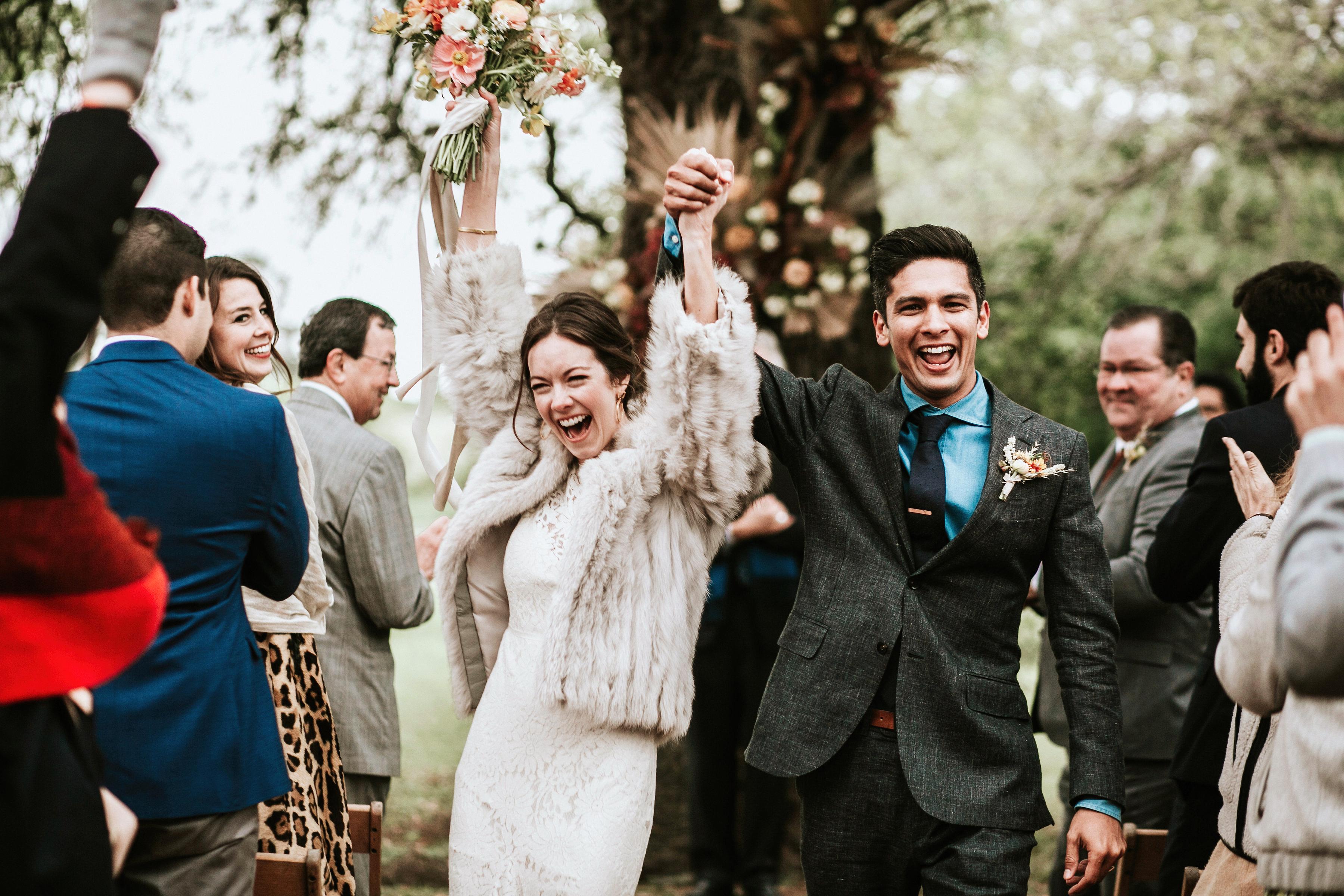 shannon jason wedding bride groom couple ceremony recessional