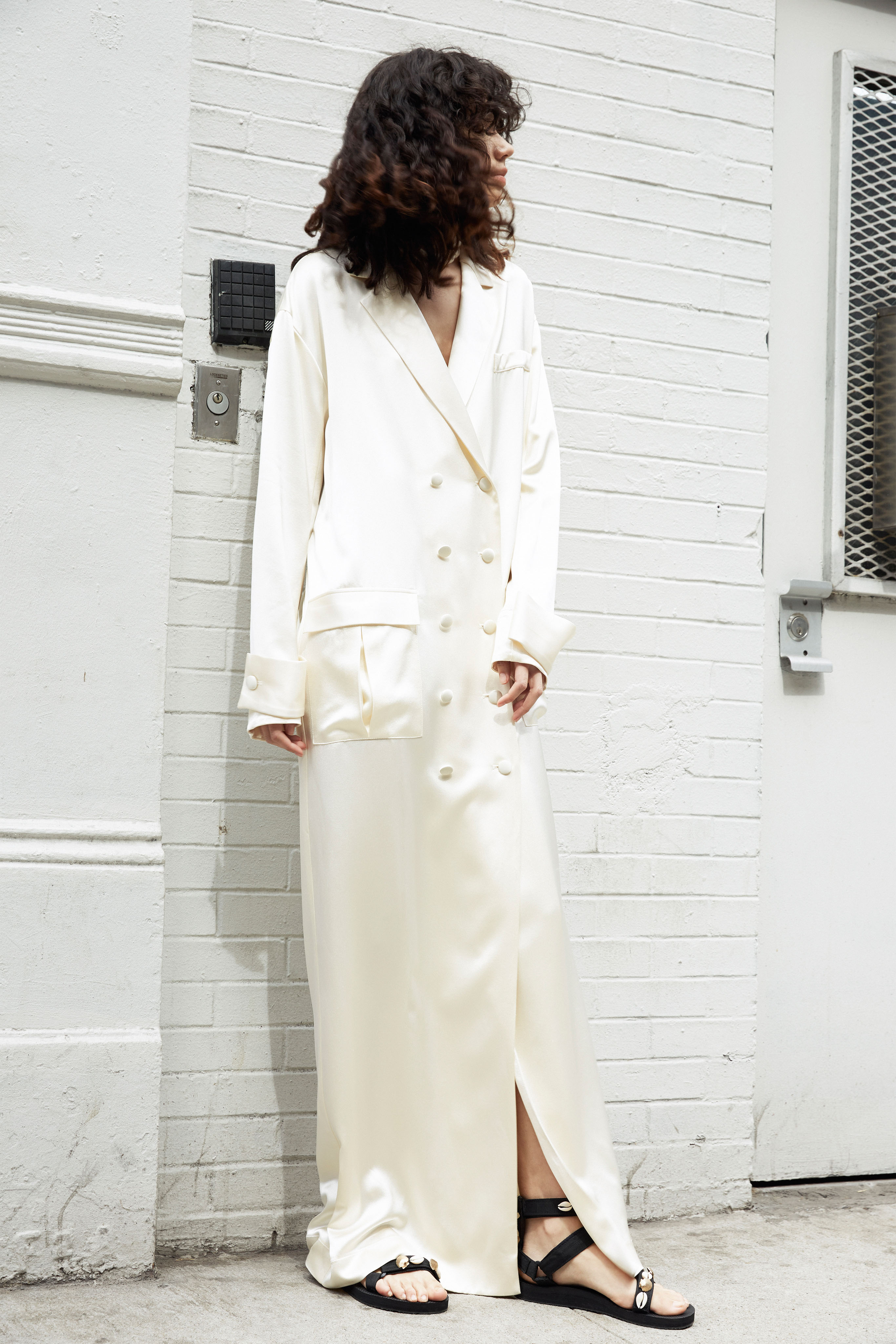 lein wedding dress spring 2020 lengthened jacket v-neck