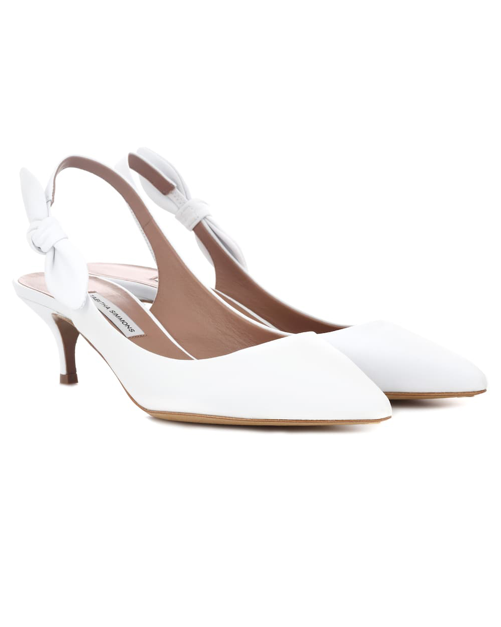 "Tabitha Simmons ""Rise"" Leather Sling-Back Pumps"
