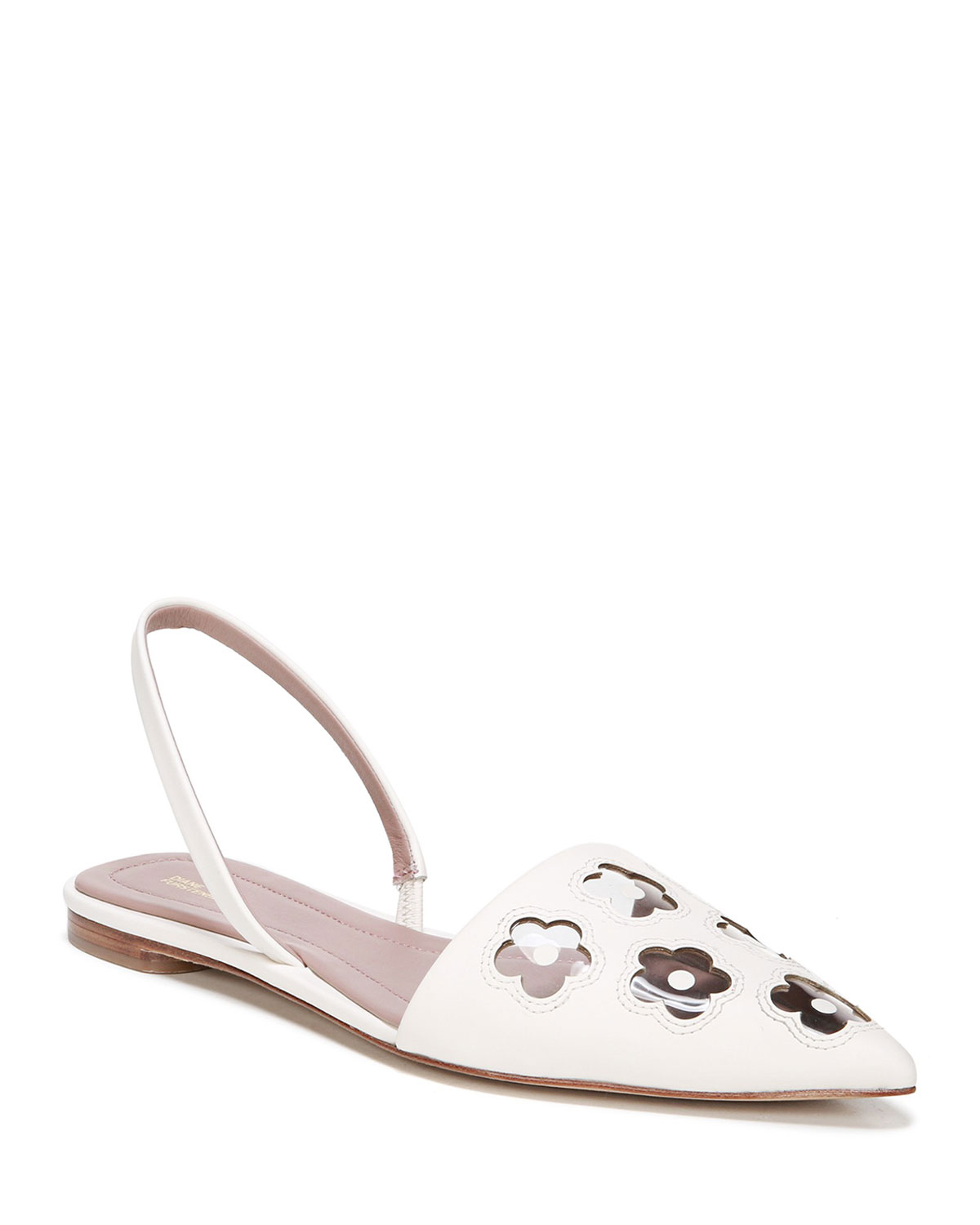 "Diane von Furstenberg ""Koko"" Point Toe Sling-Back Flat Sandals"