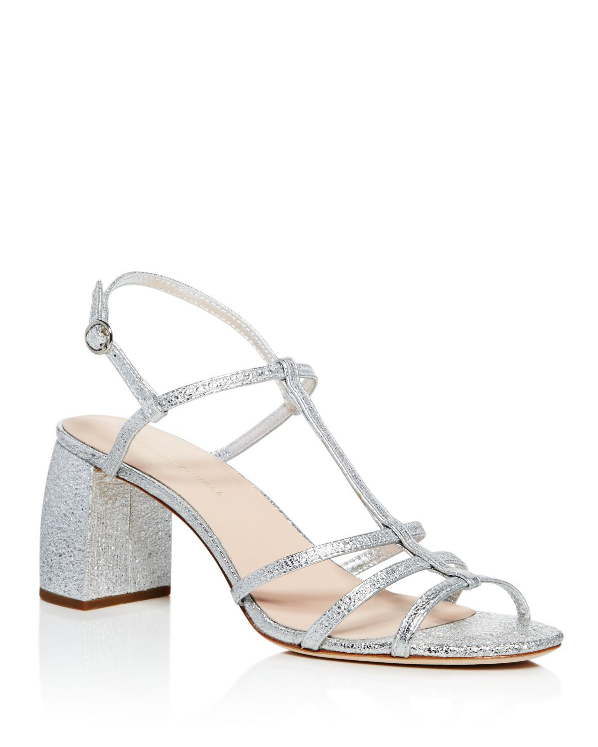 "Loeffler Randall ""Elena"" Crinkled Leather Sandals"