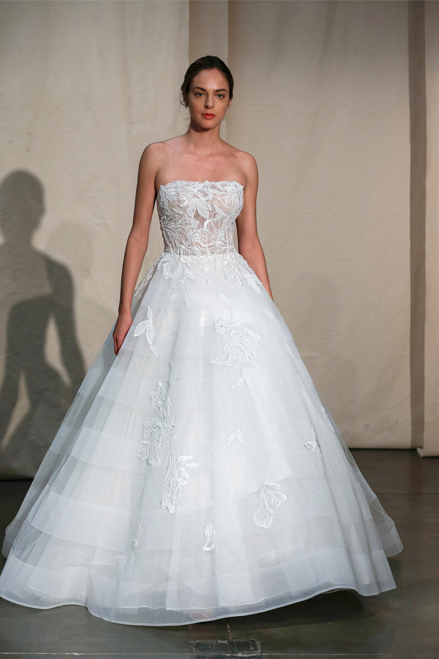 justin alexander embroidered strapless ball gown wedding dress spring 2020