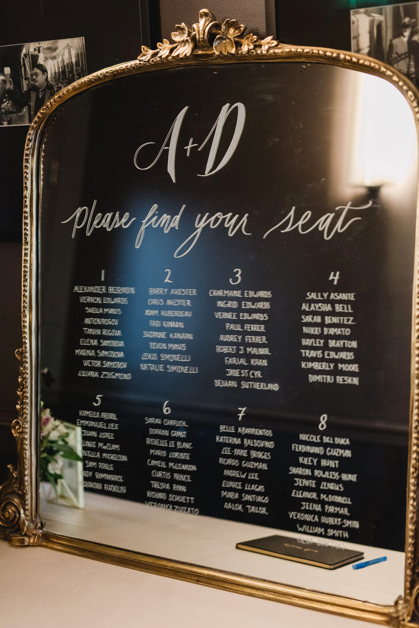 daniela andrei wedding seating chart