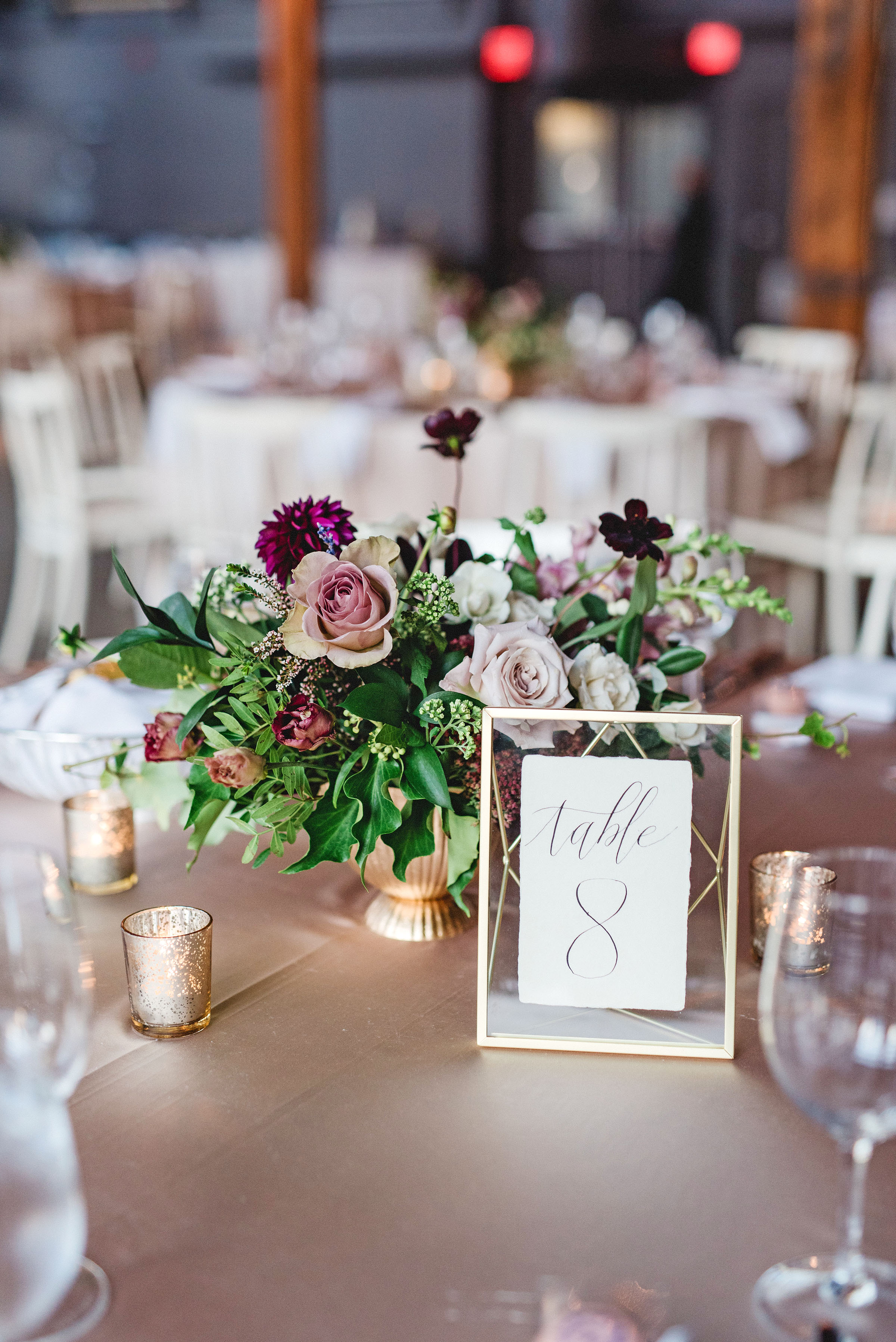 daniela andrei wedding reception centerpieces