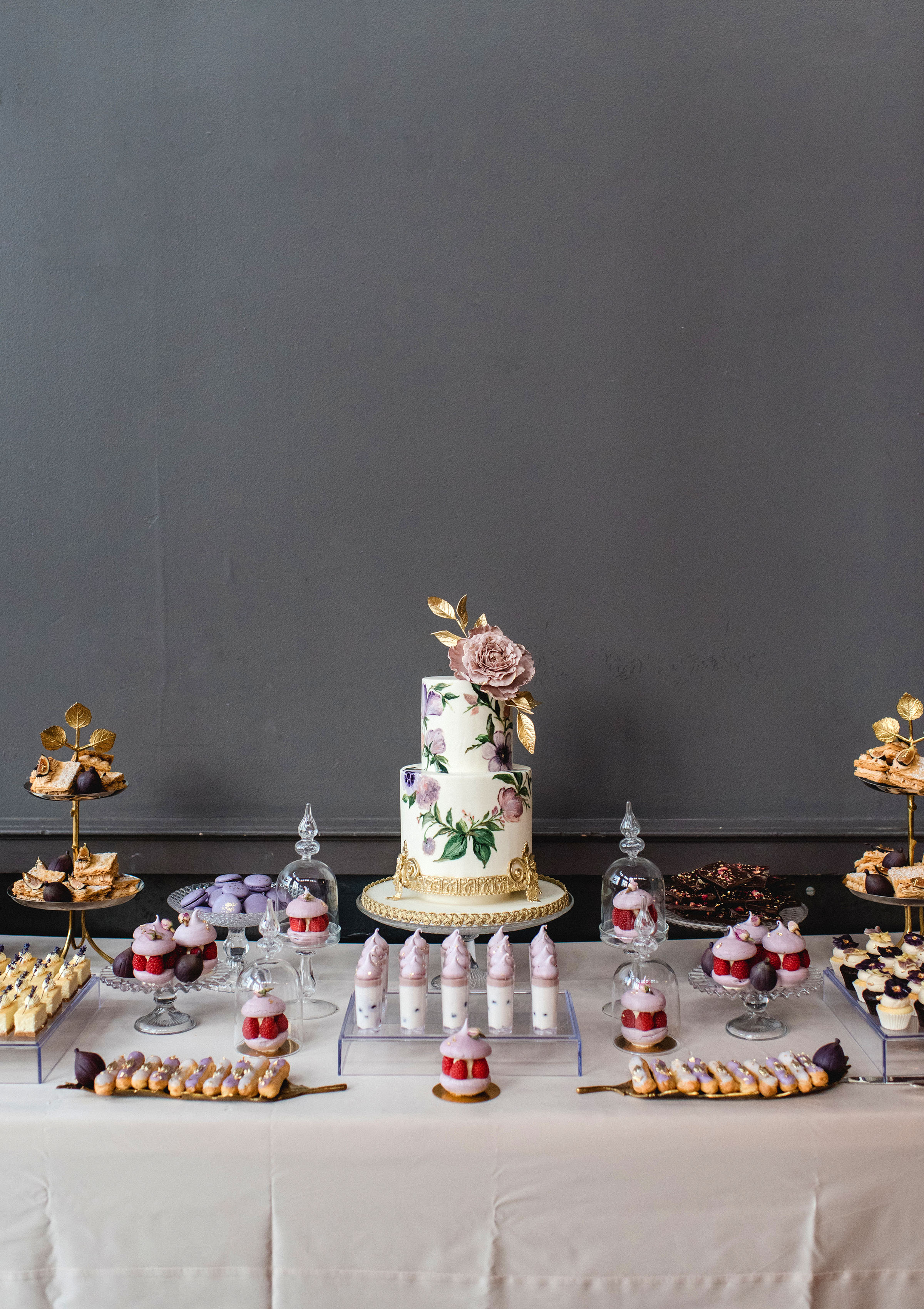 daniela andrei wedding reception dessert table