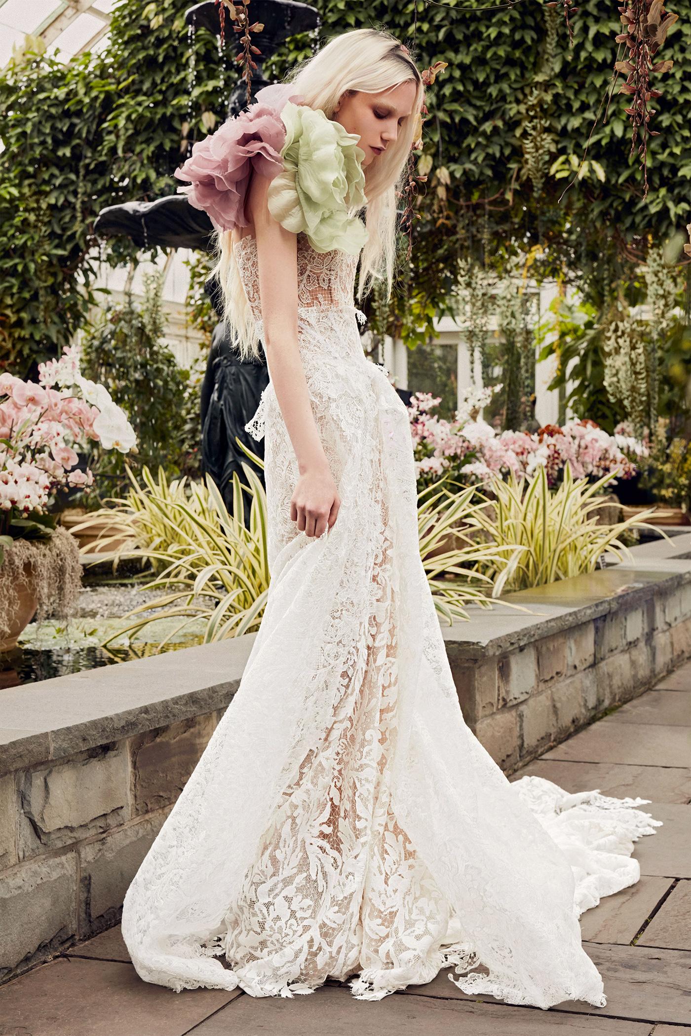 vera wang lace skirt overlay wedding dress spring 2020